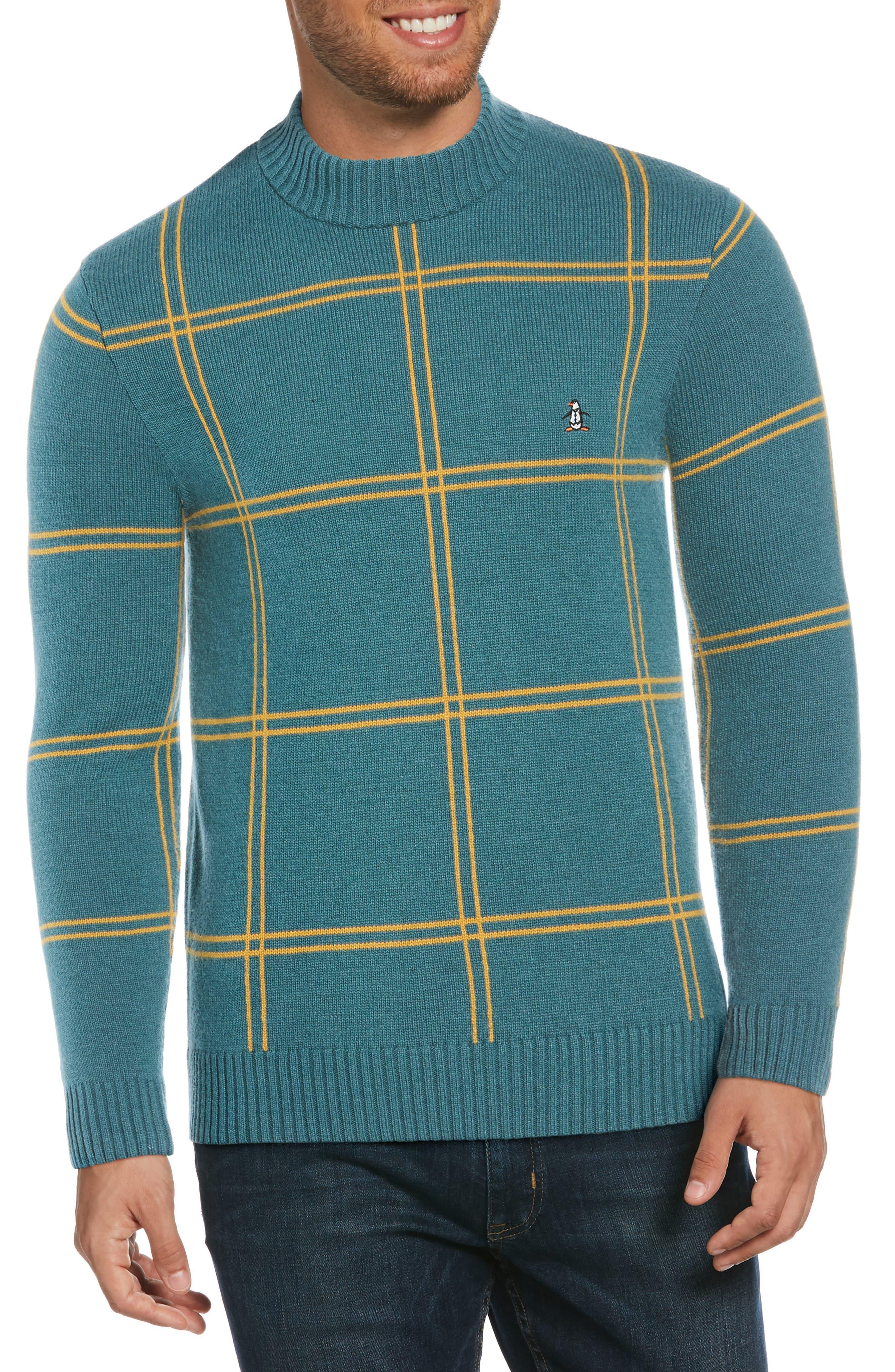 Original Penguin Mens Graphic Crewneck Sweatshirt L Blue