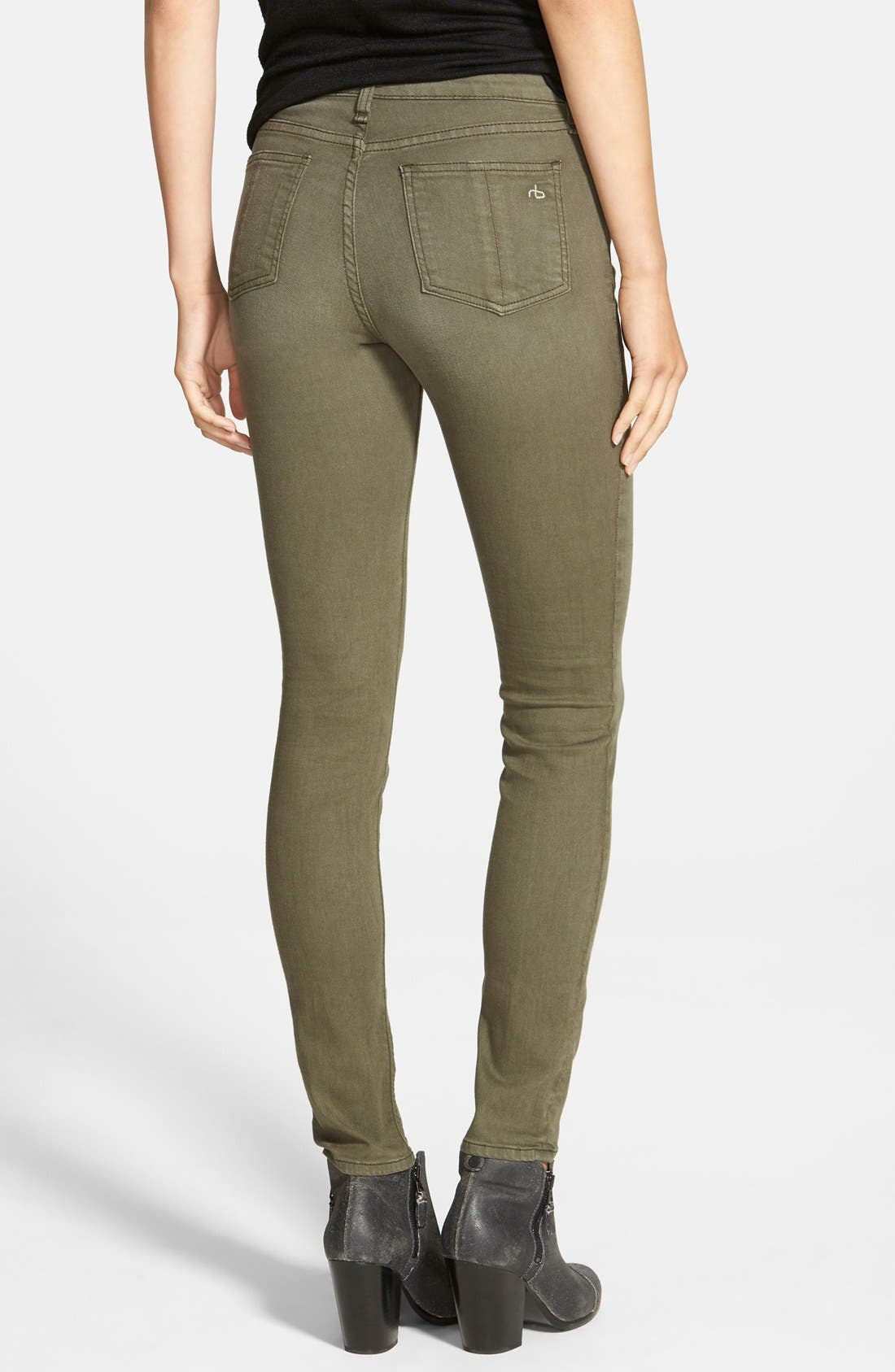 Alternate Image 2  - rag & bone/JEAN 'The Skinny' Jeans (Distressed Fatigue) (Nordstrom Exclusive)