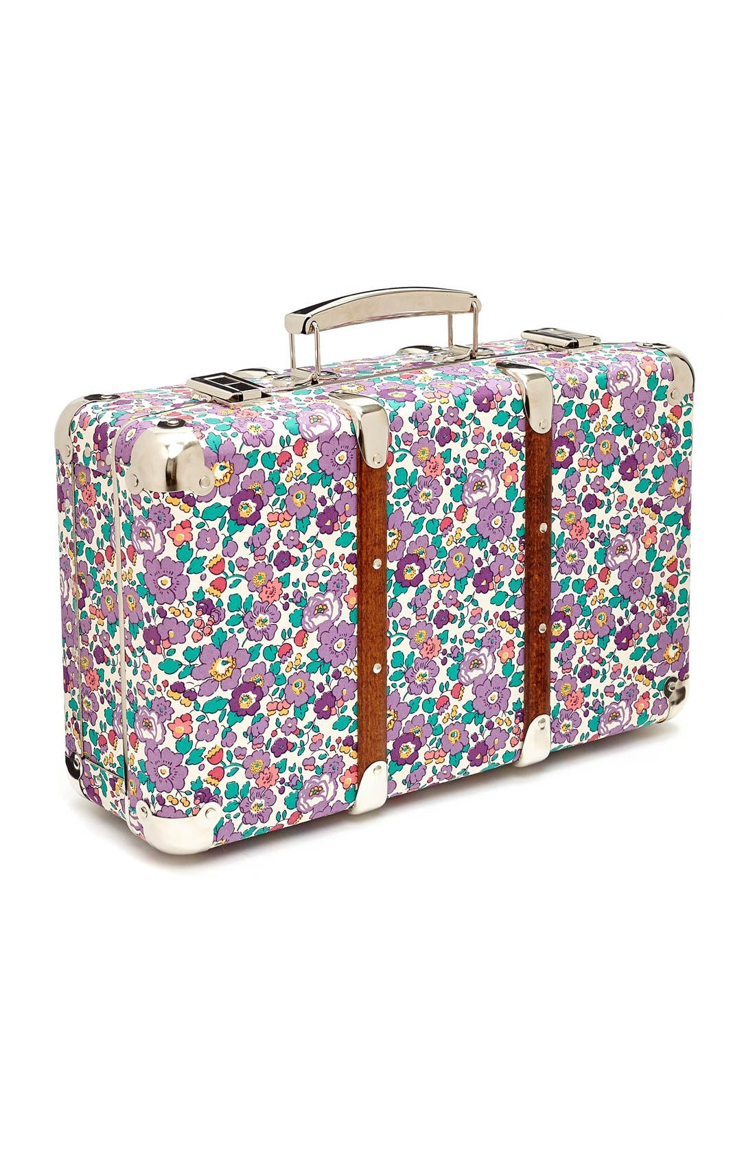 Main Image - Flowers of Liberty Floral Print Suitcase