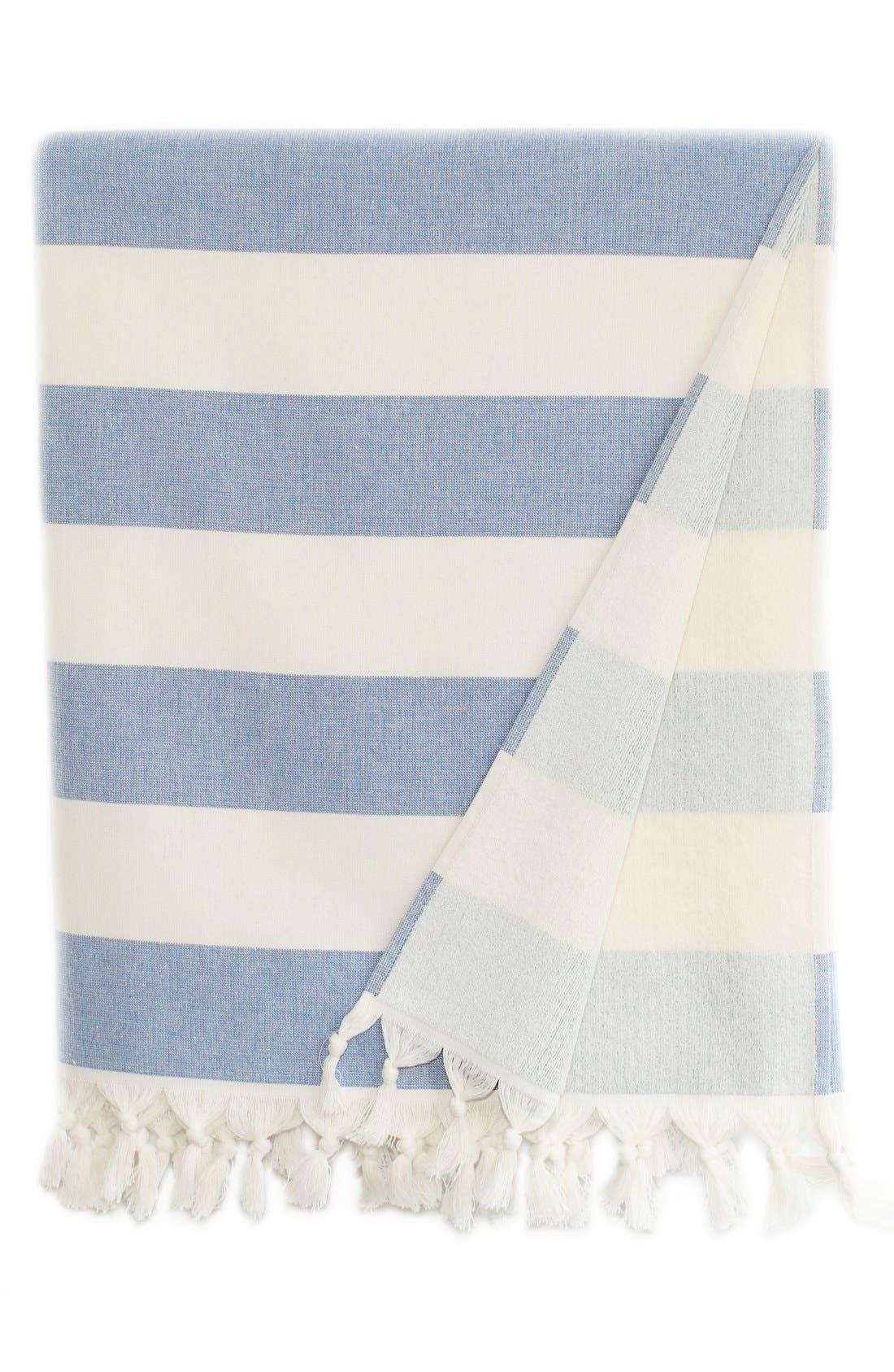 'Patara' Turkish Pestemal Towel,                             Main thumbnail 1, color,                             Royal Blue