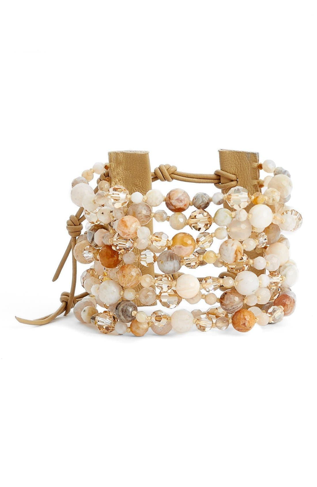 Alternate Image 1 Selected - Chan Luu Wide Multistrand Bracelet