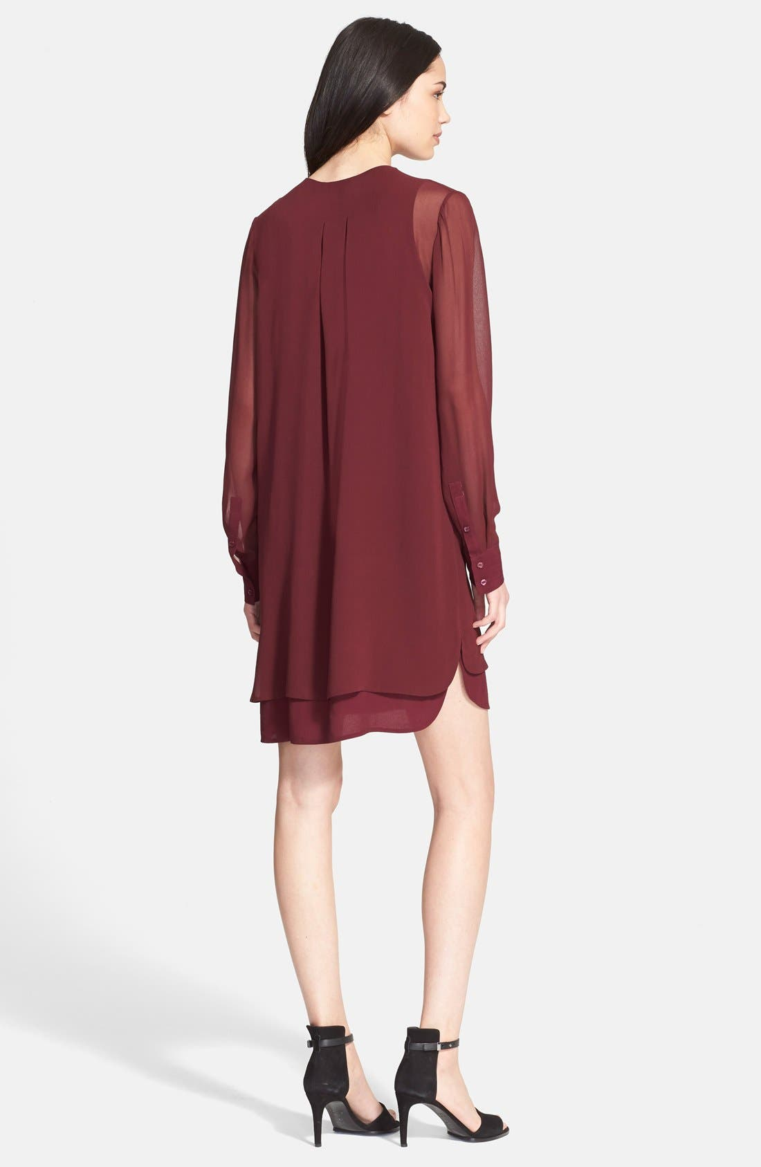 Alternate Image 2  - Vince Double Layer Shirtdress