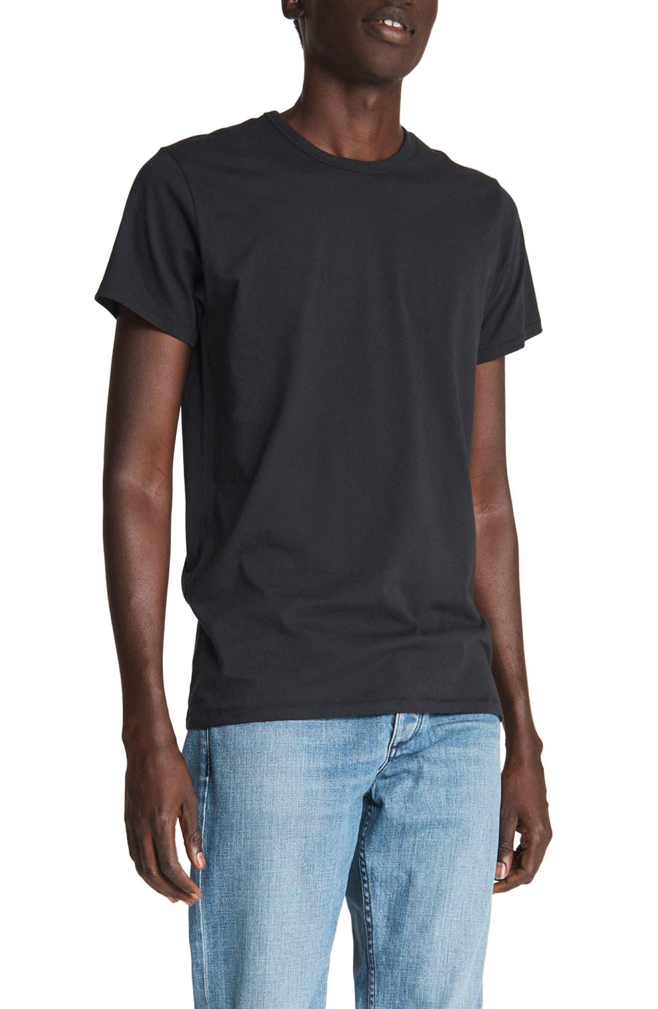 Rag /& Bone Clothing Men Indigo Basic Short Sleeve Cotton T-Shirt Style M000T046G