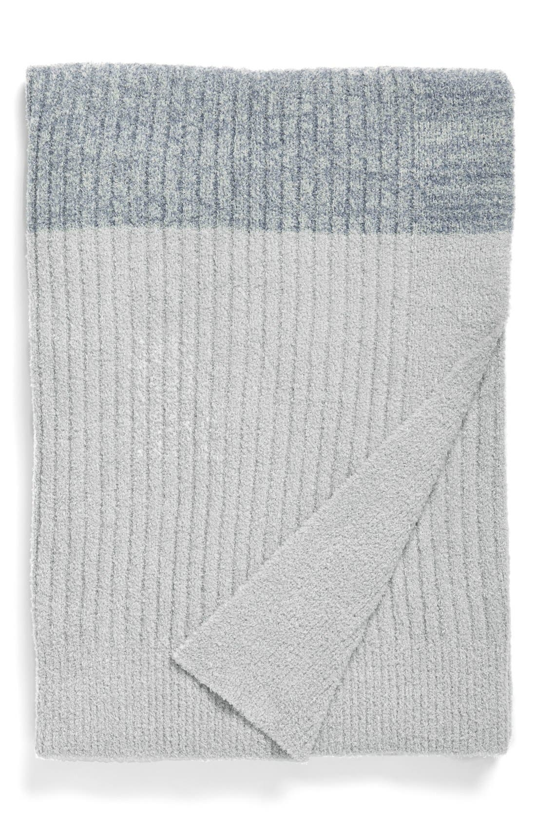 Alternate Image 1 Selected - Barefoot Dreams® Heathered Stripe Throw