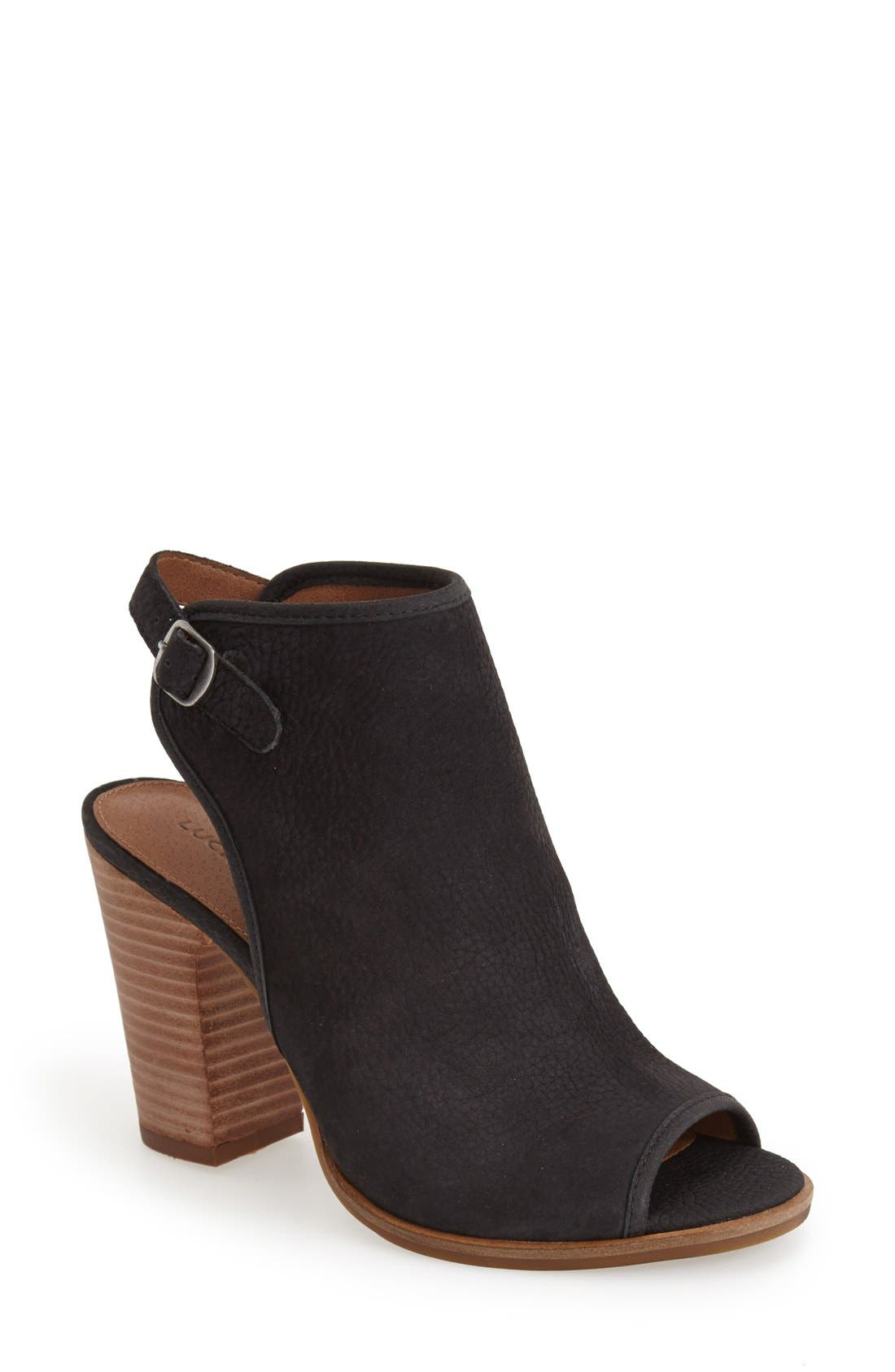 Alternate Image 1 Selected - Lucky Brand 'Lisza' Open Toe Bootie (Women)