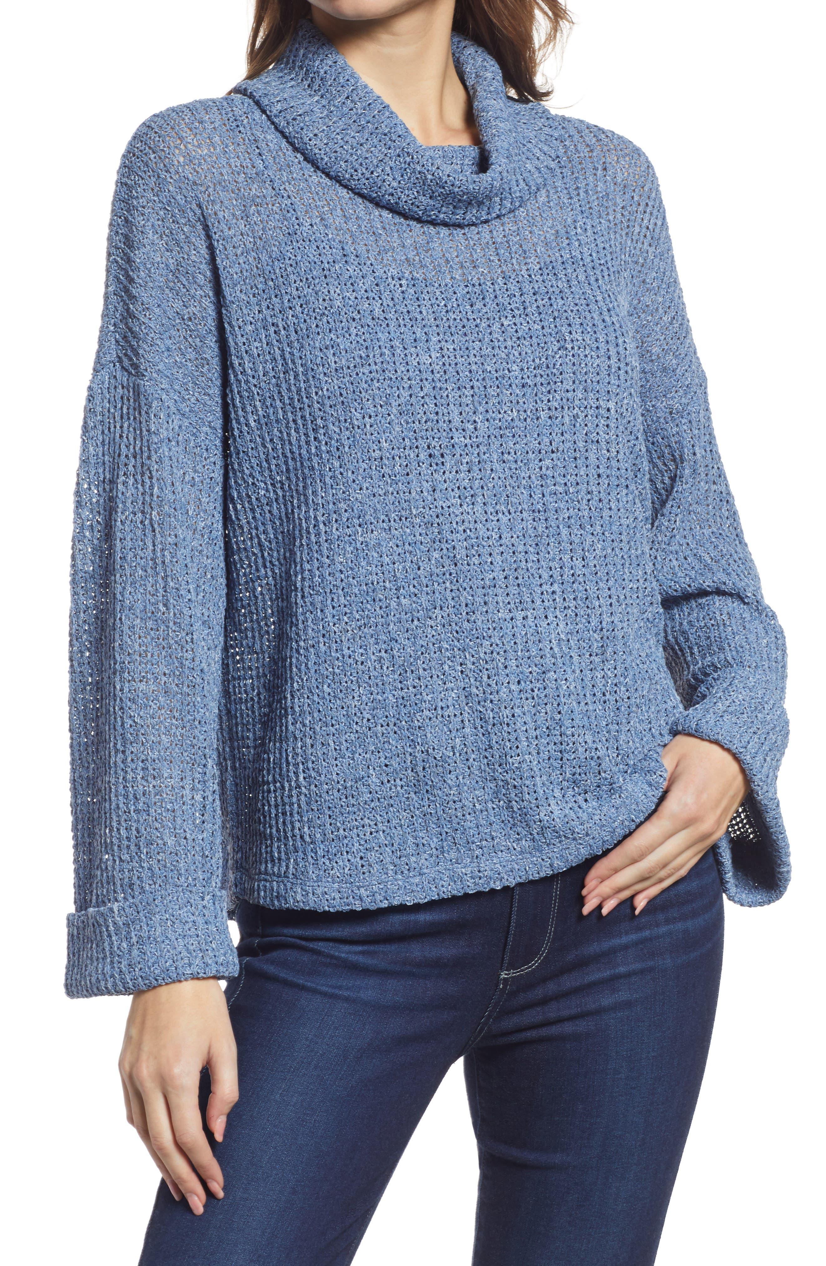 Cowl Neck Tunic Sweater Turtleneck Women/'s Mint Green Long Sleeve Sweater