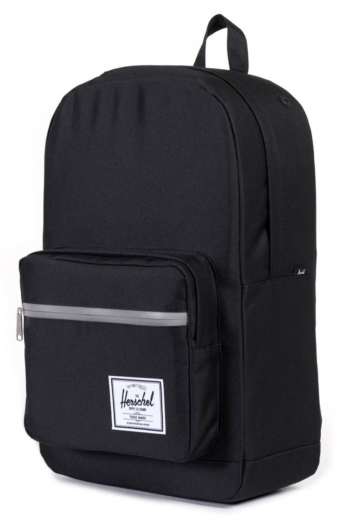 'Pop Quiz' Backpack,                             Alternate thumbnail 4, color,                             Black/ 3M