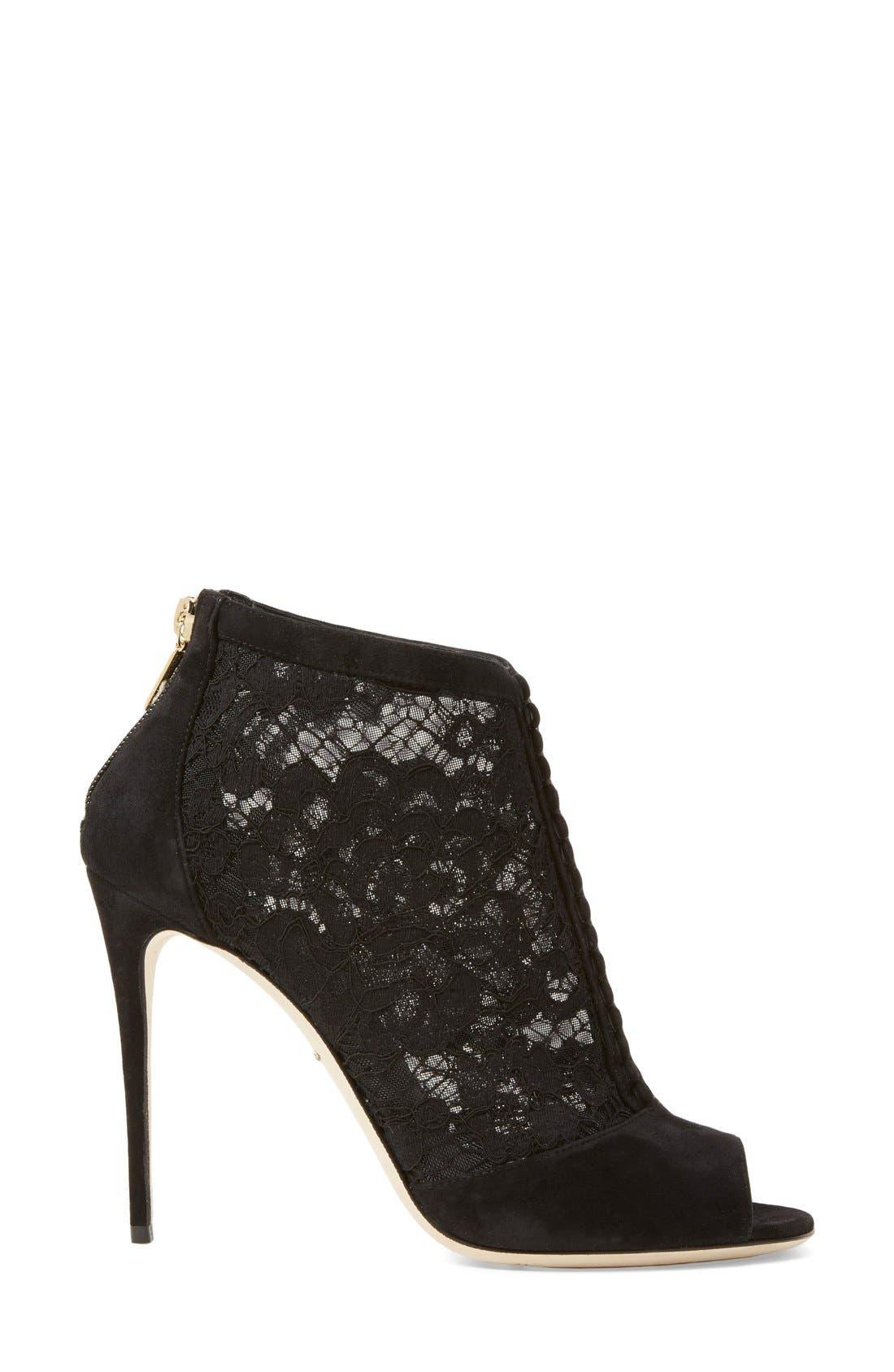 Alternate Image 4  - Dolce&Gabbana Peep Toe Bootie (Women)