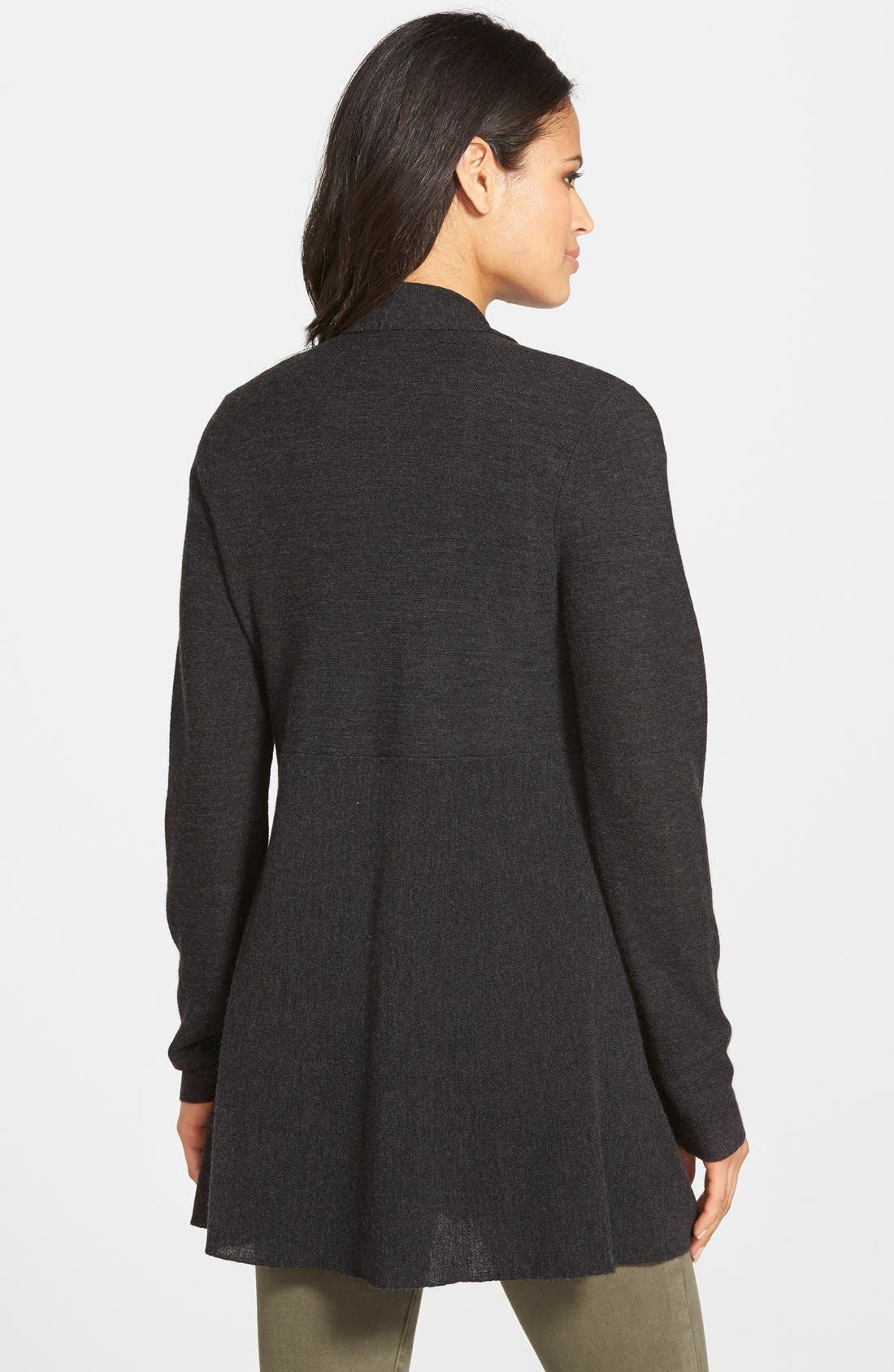 Alternate Image 2  - Eileen Fisher Merino Open Front Cardigan