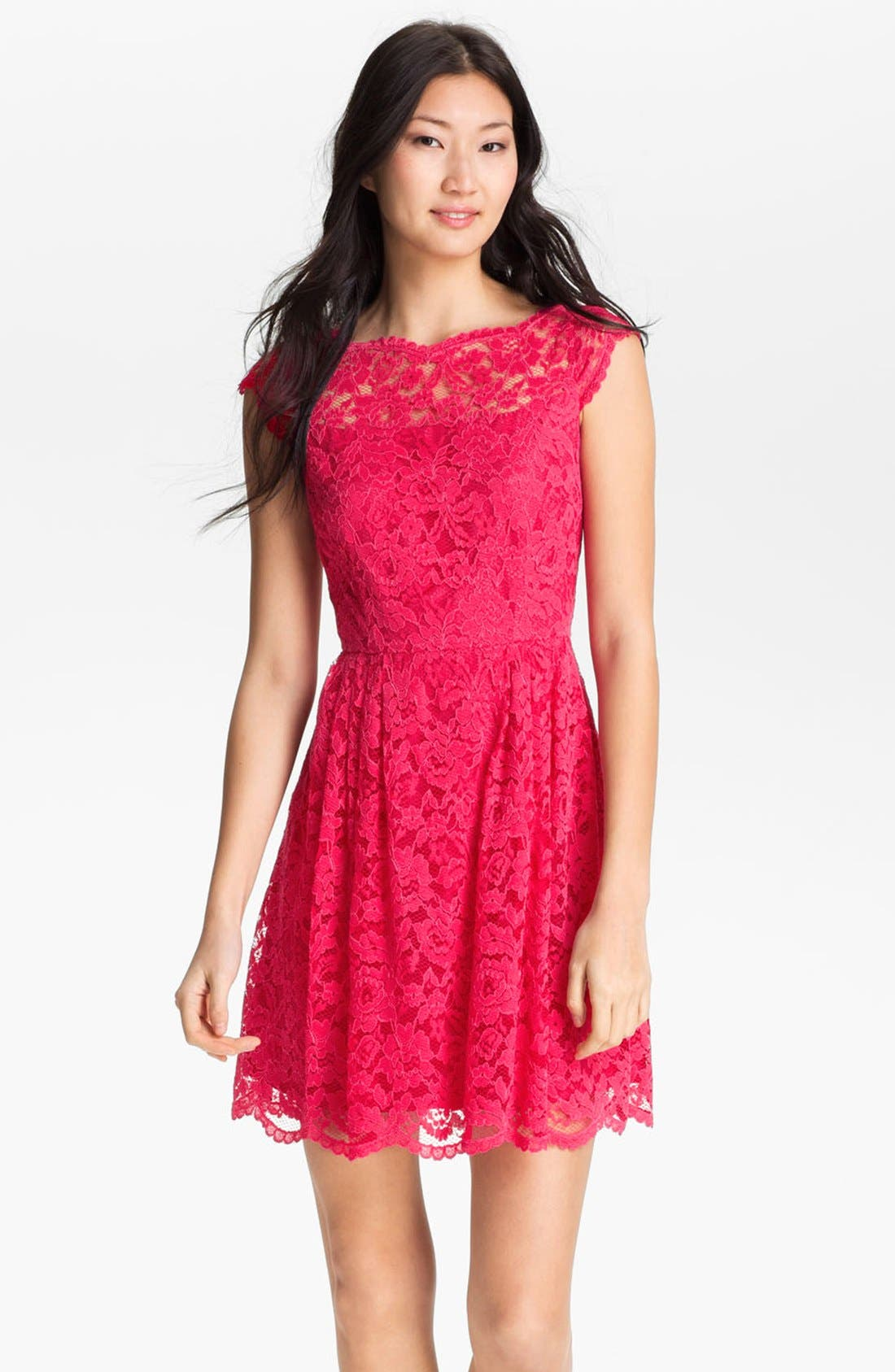 Alternate Image 1 Selected - Cynthia Steffe Lace Fit & Flare Dress