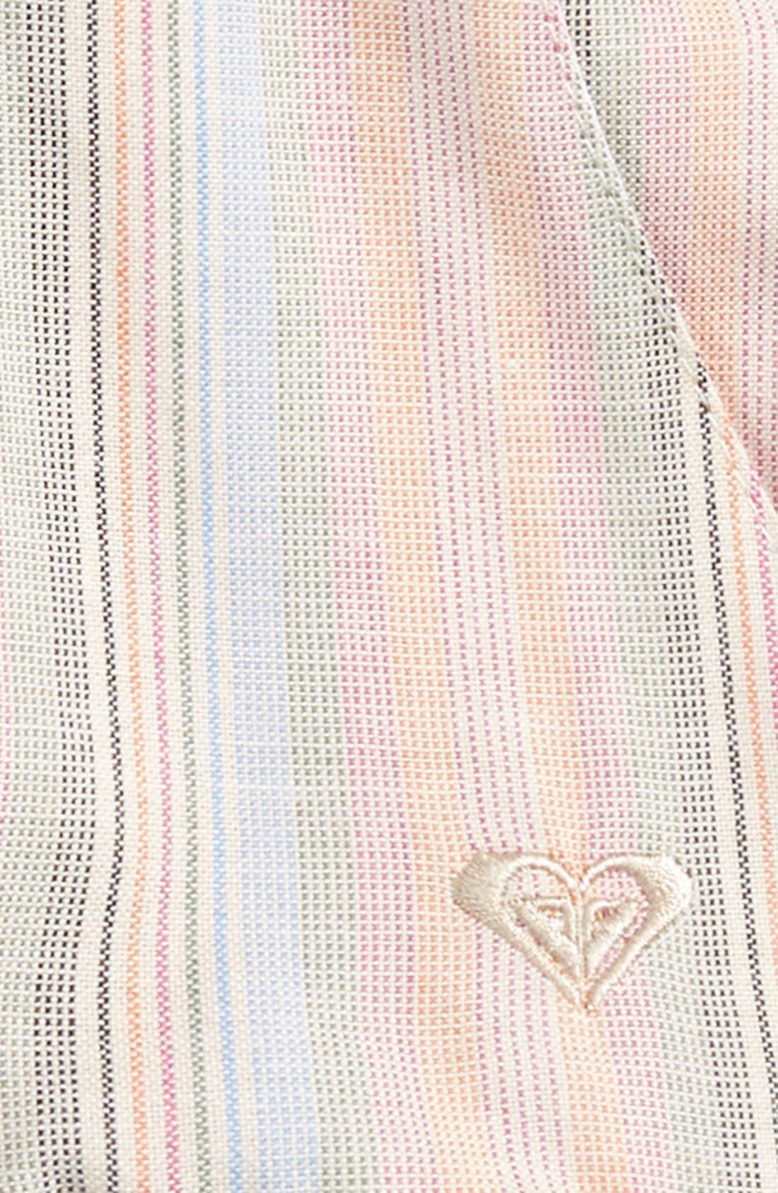 Alternate Image 2  - Roxy 'Ruffled Feathers' Stripe Shorts (Baby Girls)