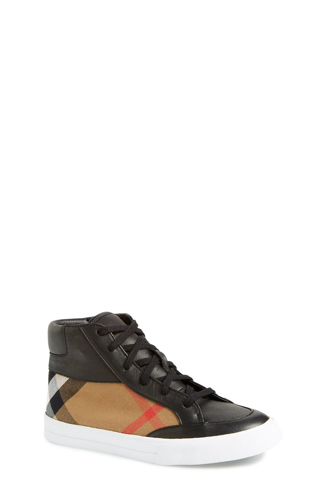 Burberry Mini Haypark High Top Sneaker (Walker, Toddler & Little Kid)