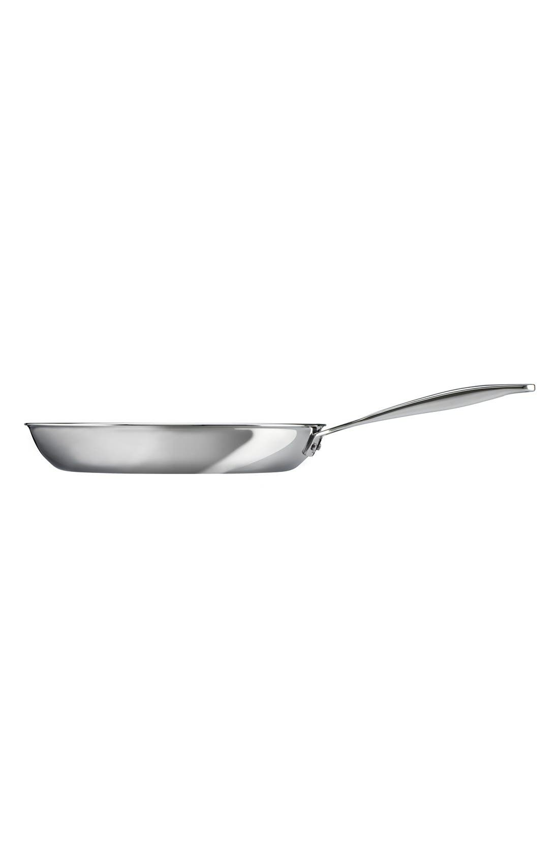 10 Inch Stainless Steel Fry Pan,                             Alternate thumbnail 3, color,                             Silver