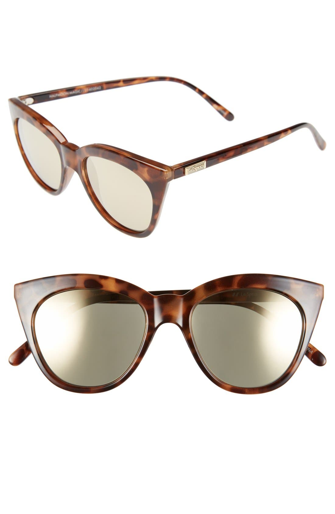 Alternate Image 1 Selected - Le Specs Halfmoon Magic 51mm Cat Eye Sunglasses