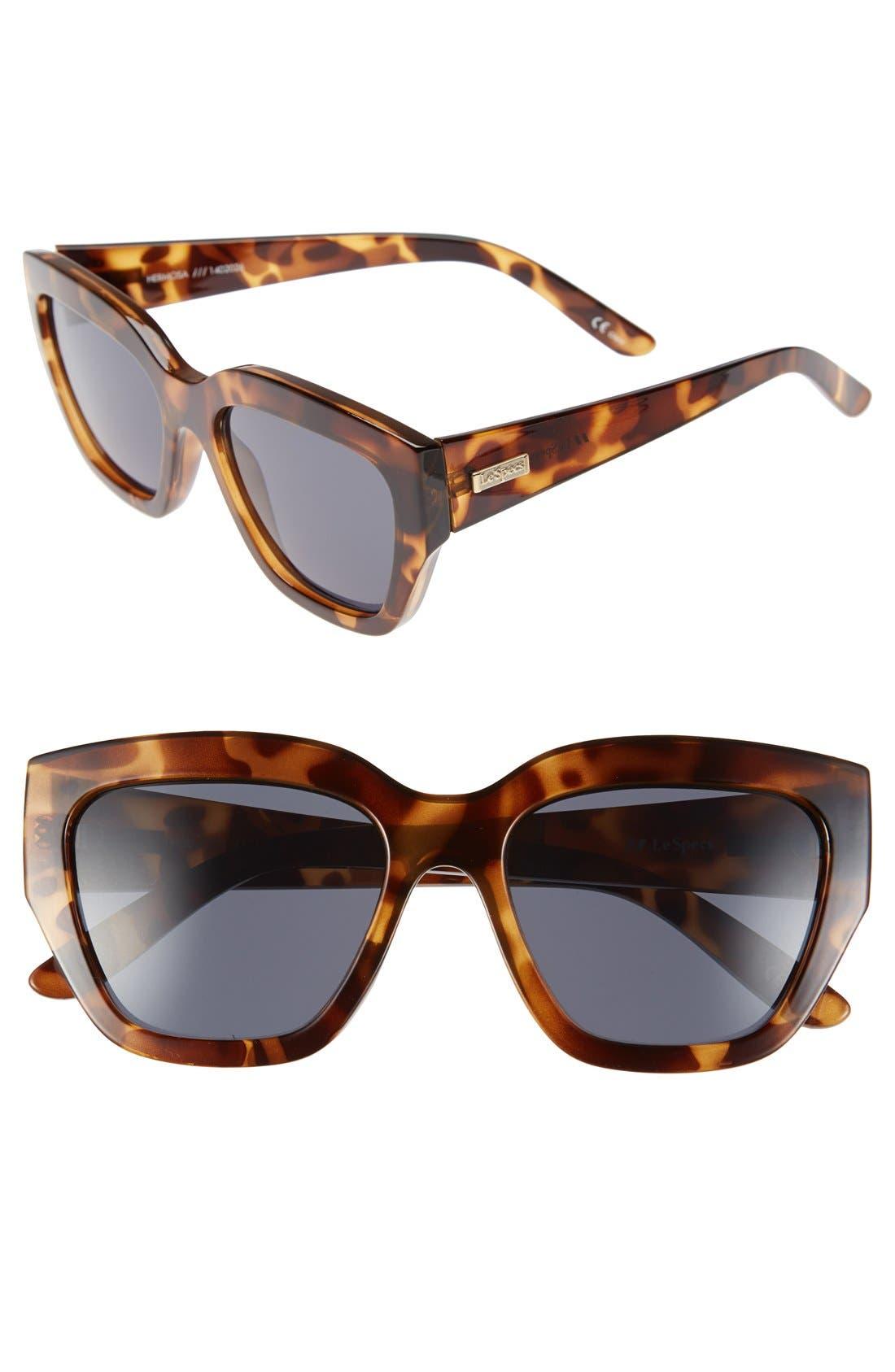 'Hermosa' 54mm Oversized Cat Eye Sunglasses,                         Main,                         color, Milky Tortoise