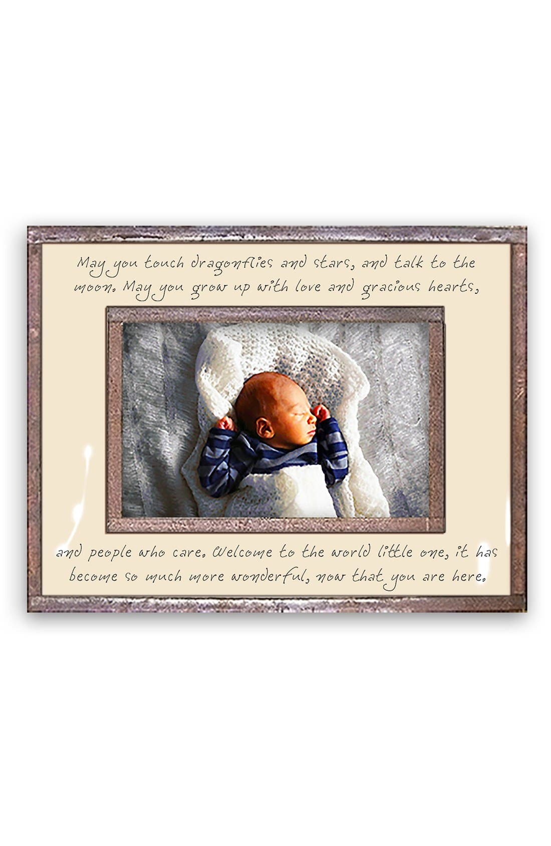 May You Touch Dragonflies Picture Frame,                         Main,                         color, Ivory