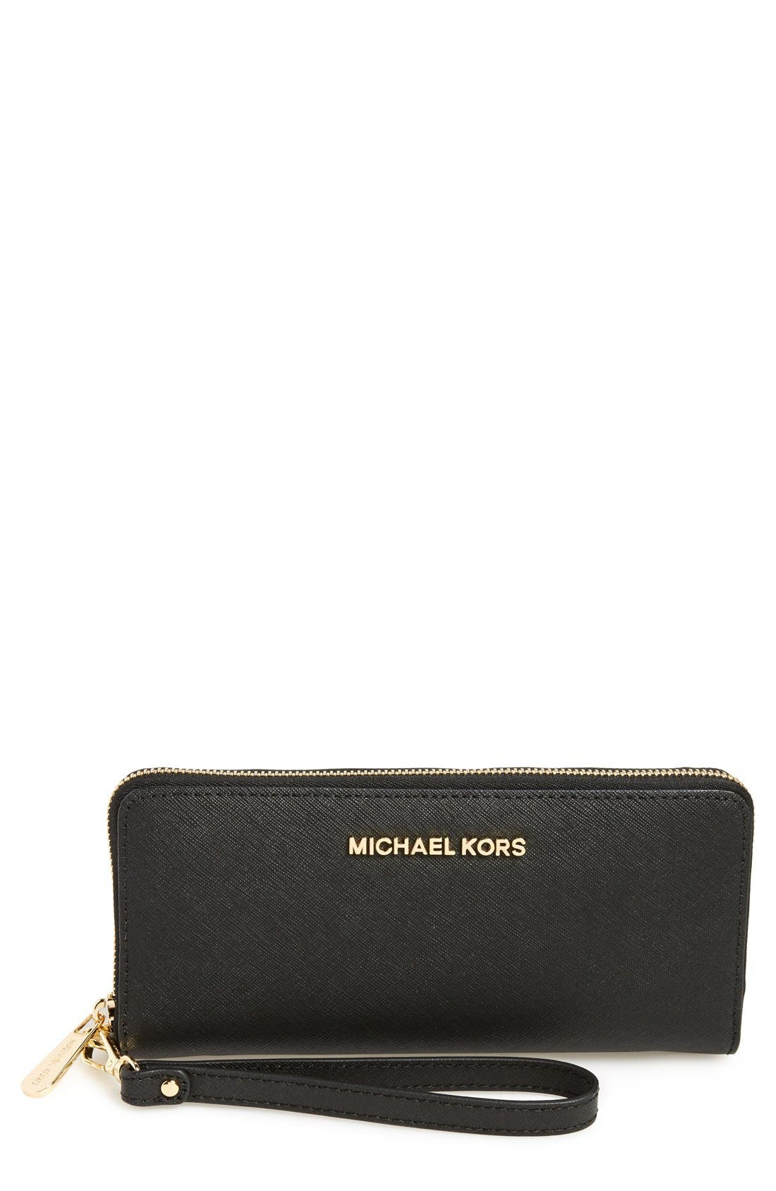 MICHAEL Michael Kors 'Jet Set' Leather Travel Wallet