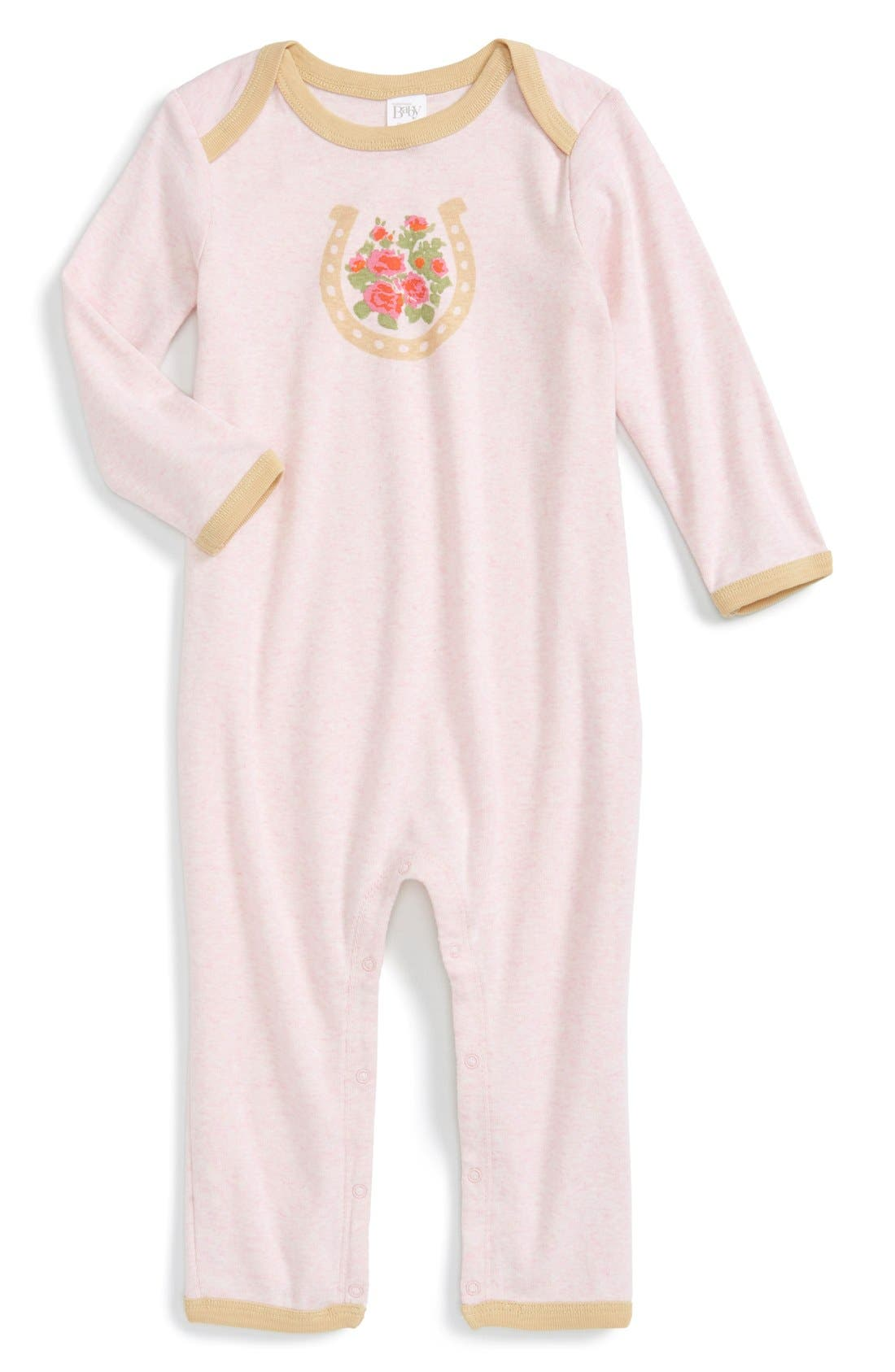 Alternate Image 1 Selected - Nordstrom Baby Graphic Romper (Baby Girls)