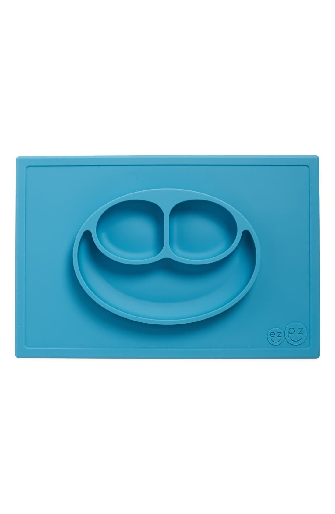 'Happy Mat' Silicone Feeding Mat,                         Main,                         color, Blue