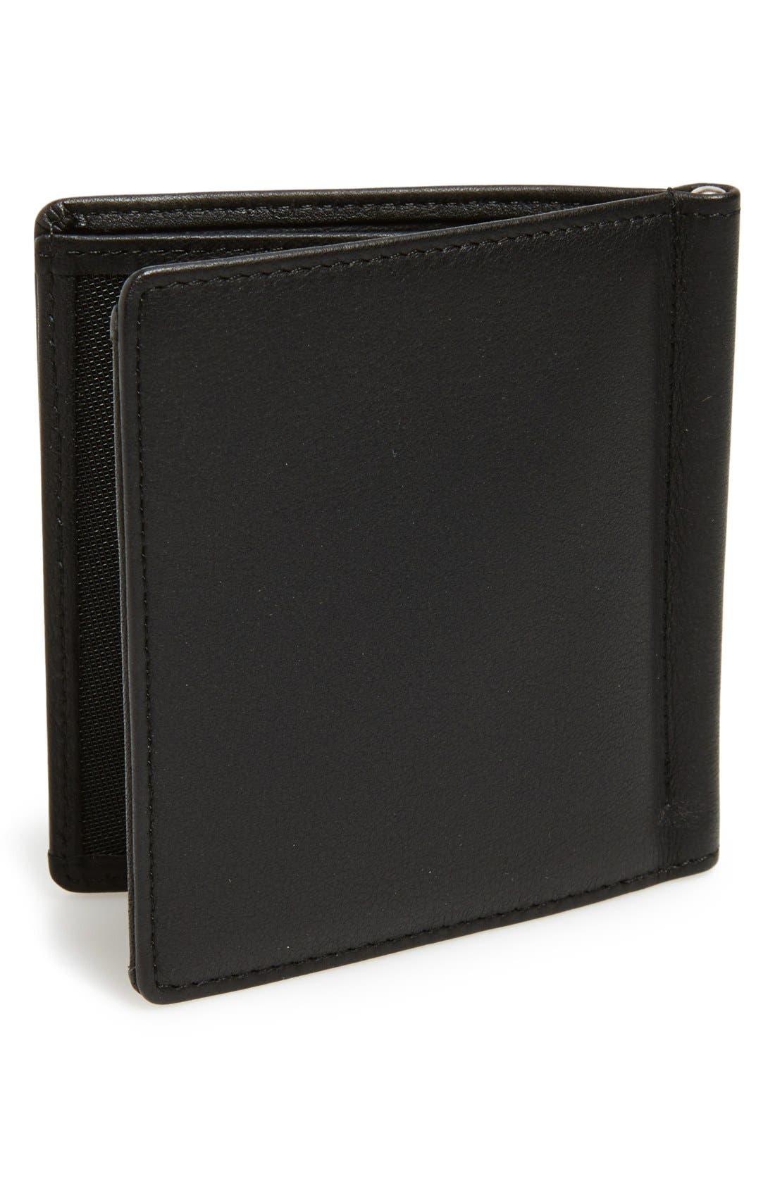 'CL2 2.0' Money Clip Card Holder,                             Alternate thumbnail 2, color,                             Black