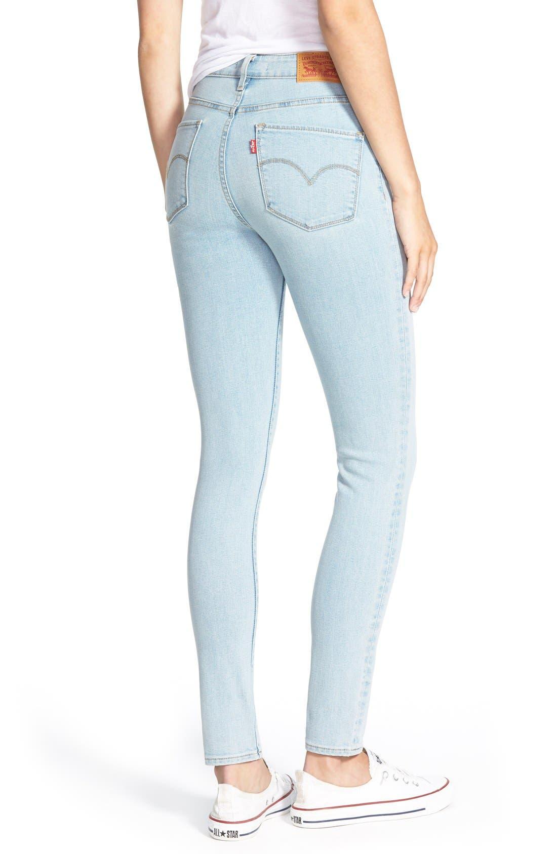 Alternate Image 2  - Levi's® '721' High Rise Skinny Jeans (Light)