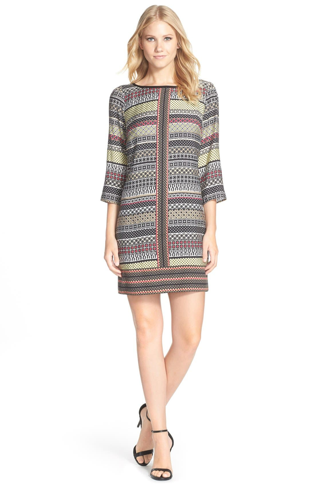 Alternate Image 3  - Laundry by Shelli Segal Print Twill A-Line Dress (Regular & Petite)