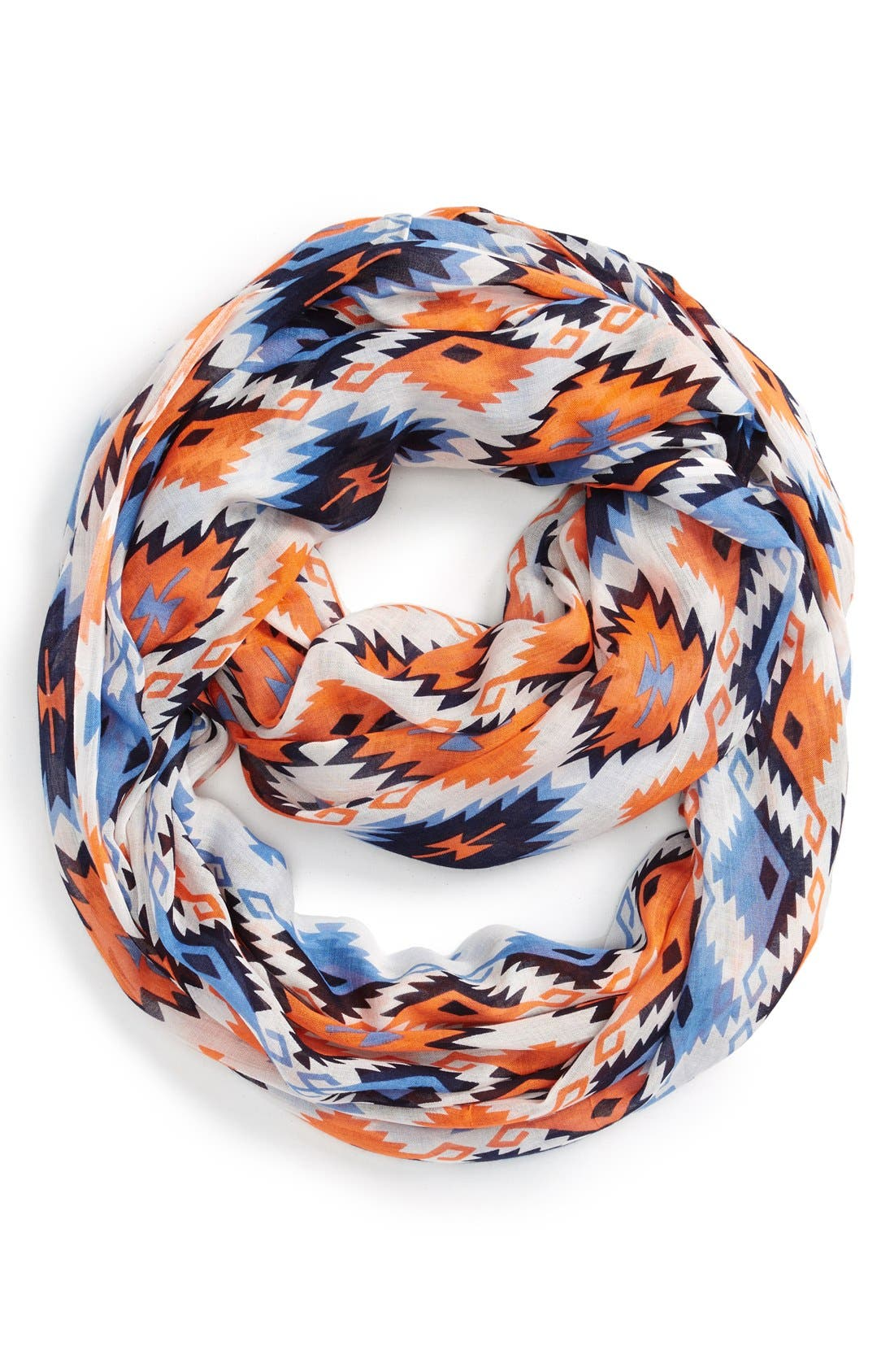 Alternate Image 1 Selected - Sole Society Geometric Print Infinity Scarf