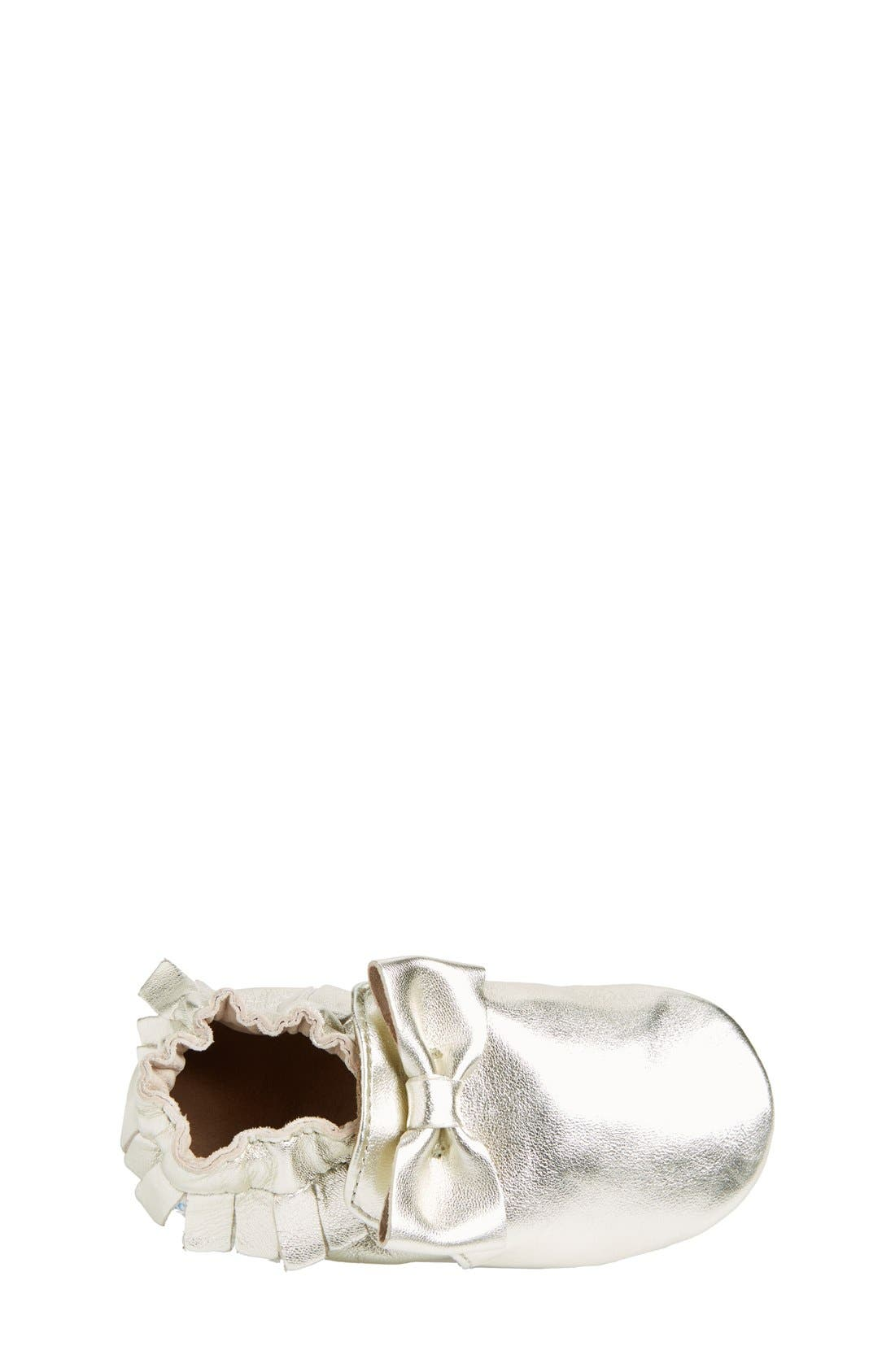 Alternate Image 3  - Robeez® 'Maggie Moccasin' Crib Shoe (Baby & Walker)