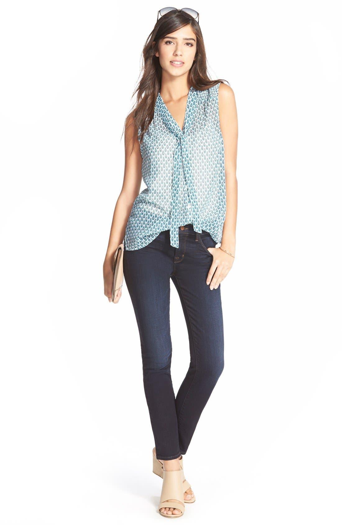 Alternate Image 2  - J Brand Mid Rise Skinny Jeans (Embrace)