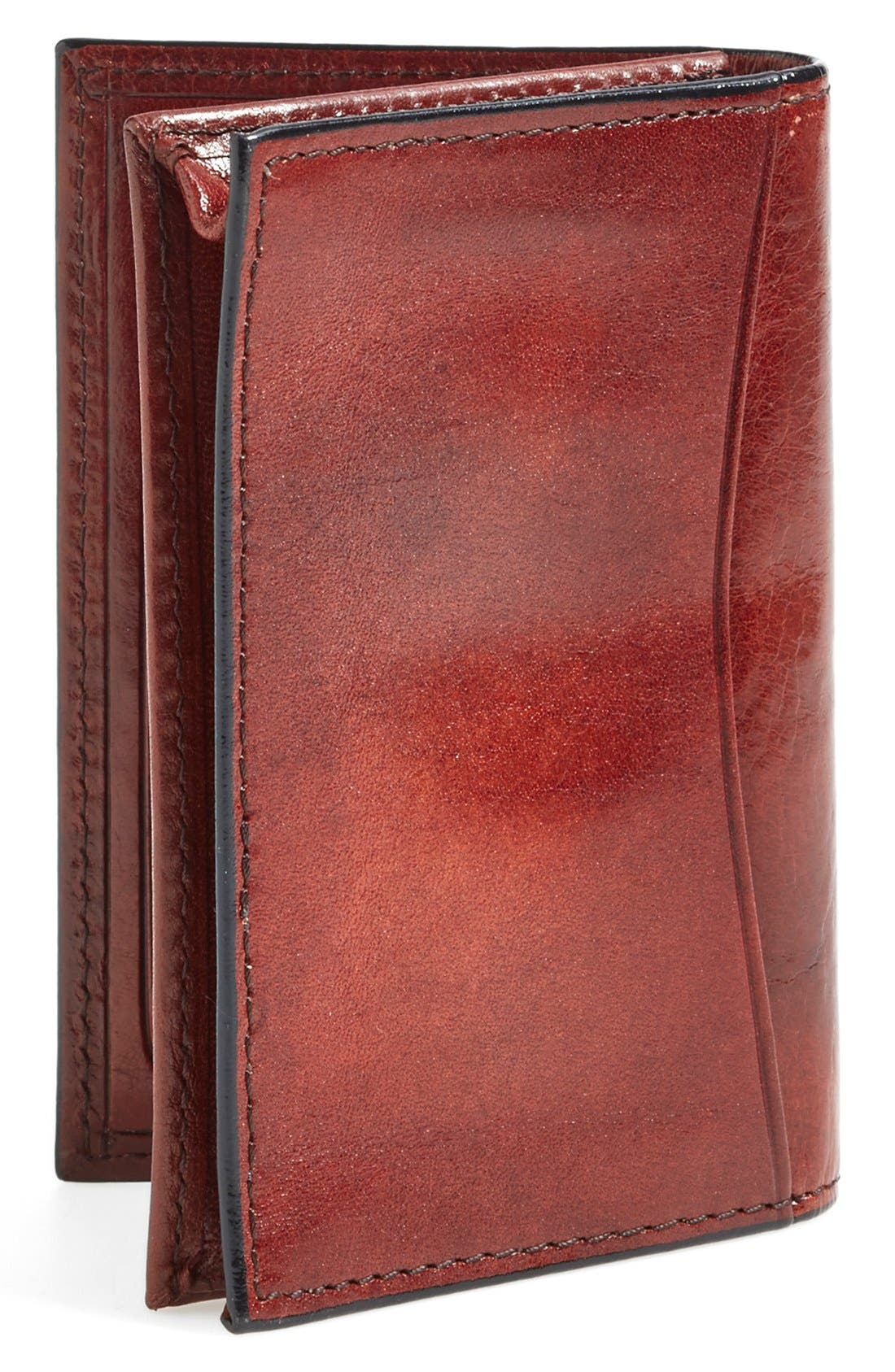 'Old Leather' Gusset Wallet,                             Alternate thumbnail 3, color,                             Dark Brown
