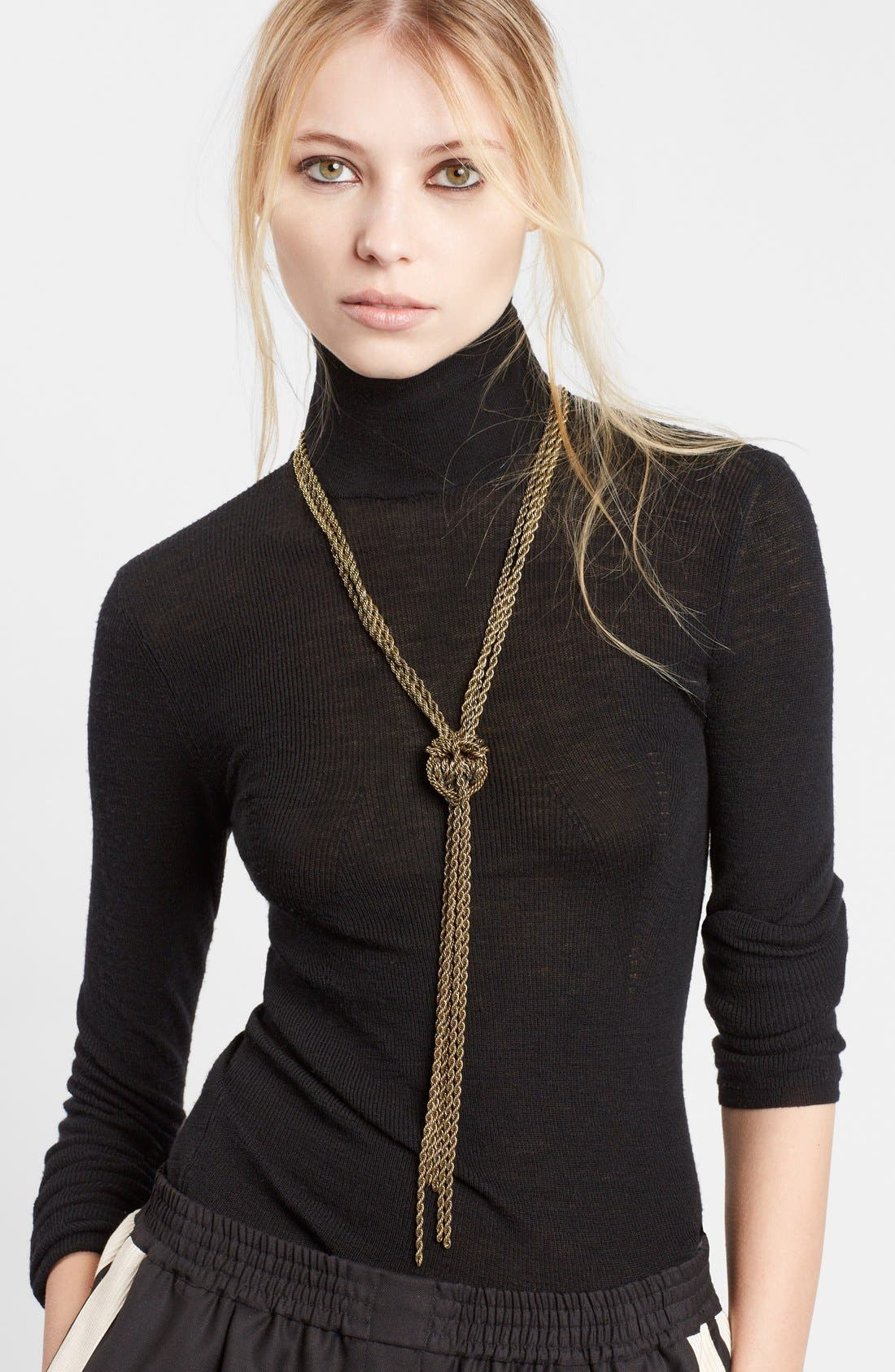 LANVIN Loose Knot Brass Necklace