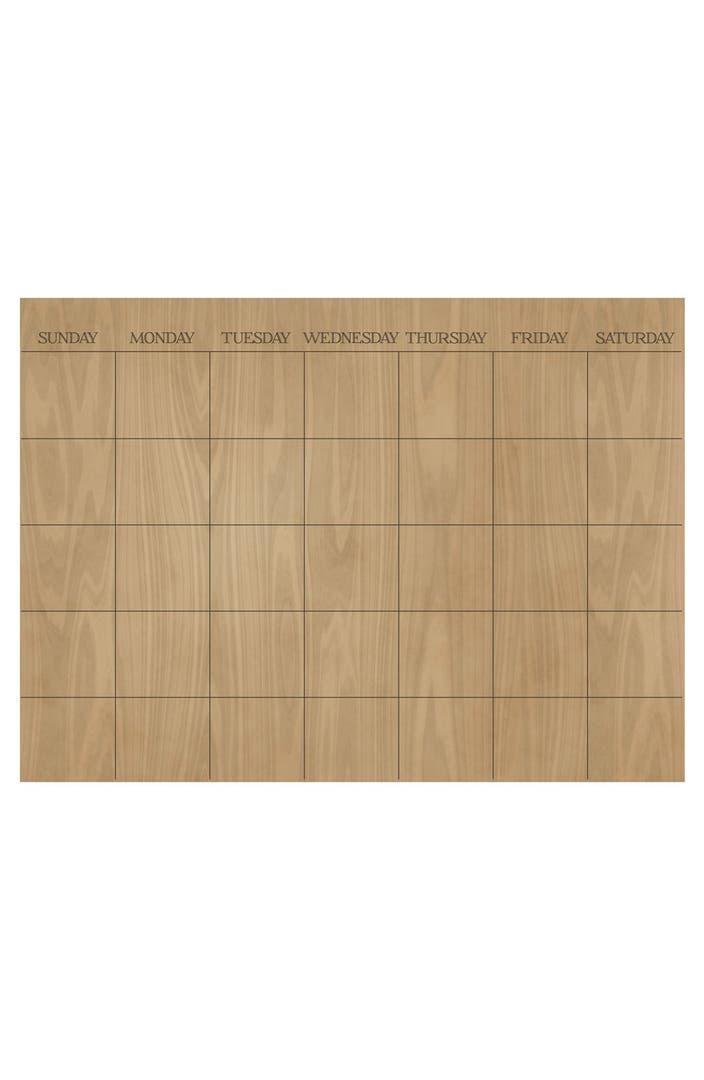 Dry Erase Calendar Canada : Wallpops hardwood monthly dry erase calendar nordstrom