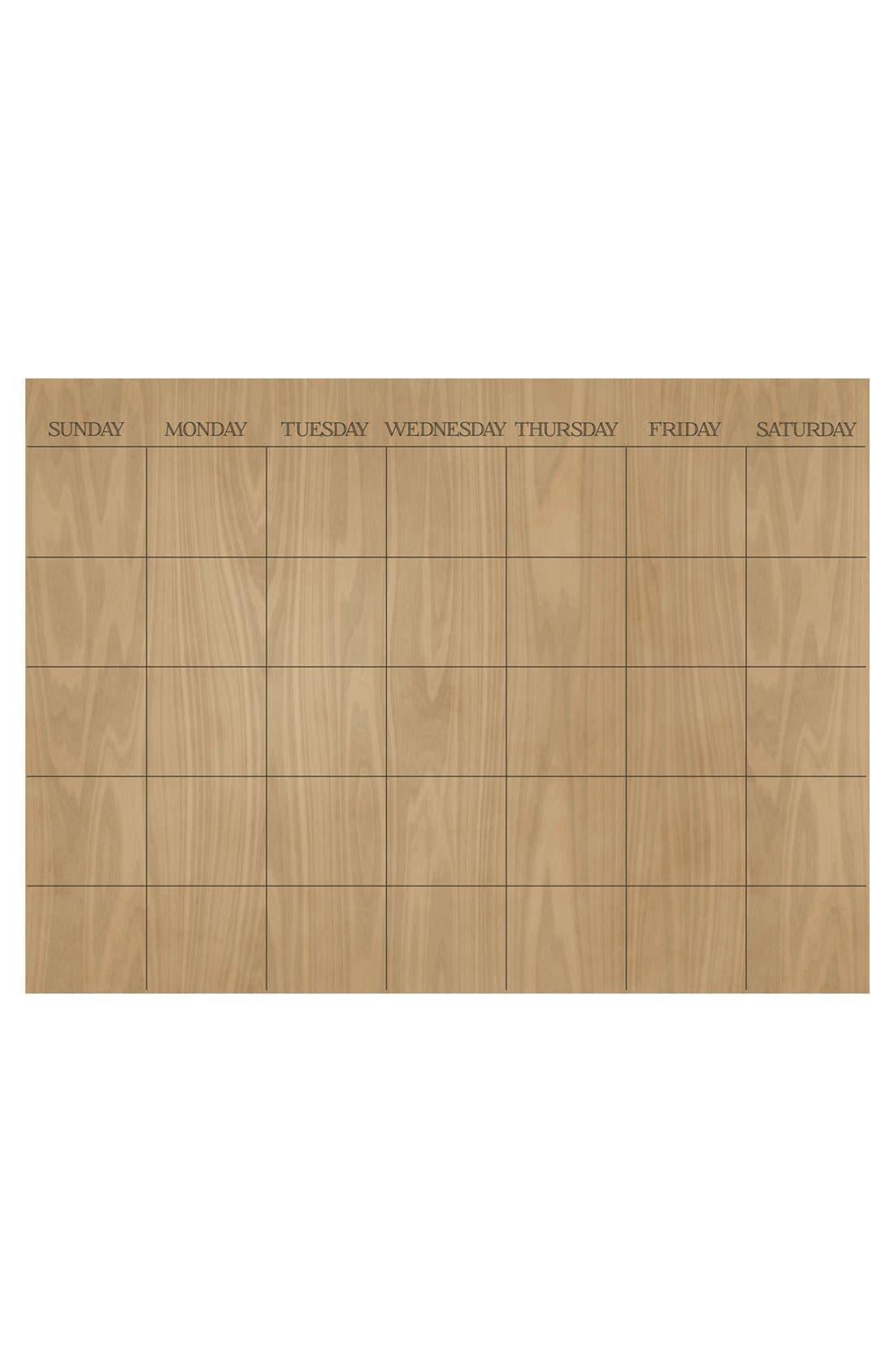Wallpops 'Hardwood' Monthly Dry Erase Calendar