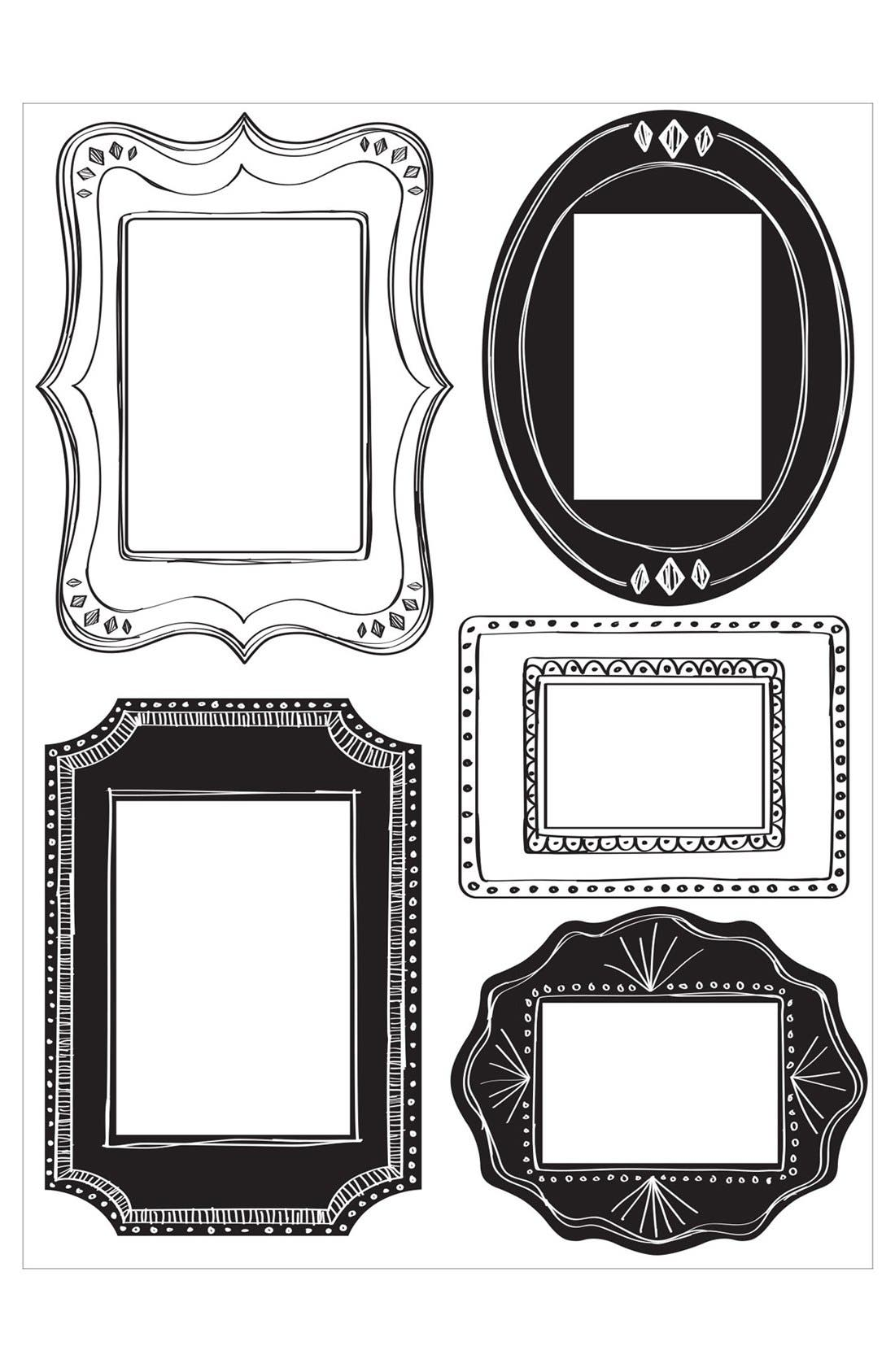 Alternate Image 1 Selected - Wallpops 'Sketch It' Wall Decal Frames (Set of 5)