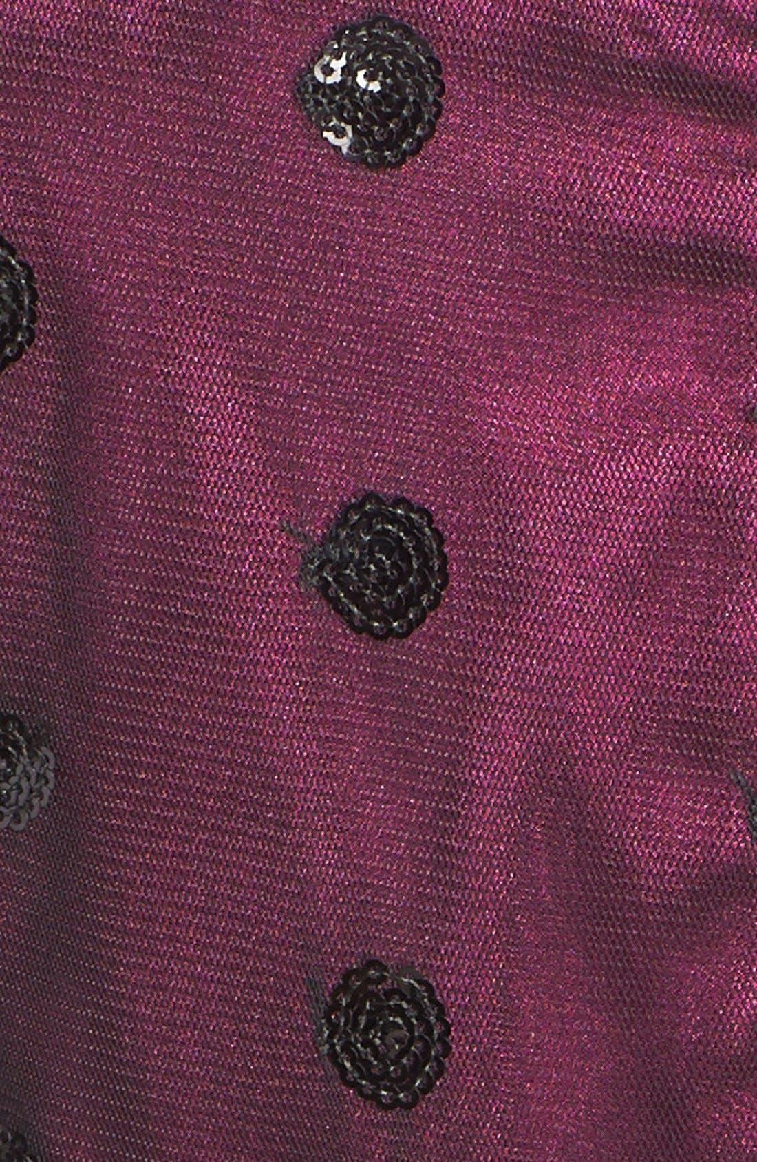 Alternate Image 4  - Eliza J Sequin Polka Dot Mesh Fit & Flare Dress