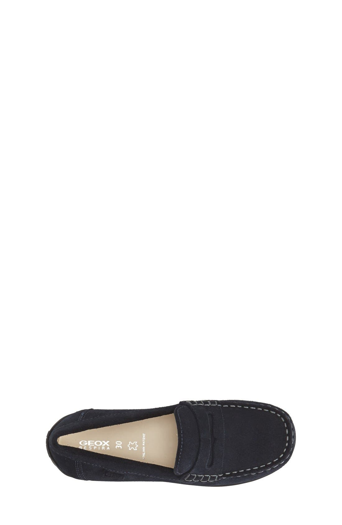 'Fast' Penny Loafer,                             Alternate thumbnail 3, color,                             Navy