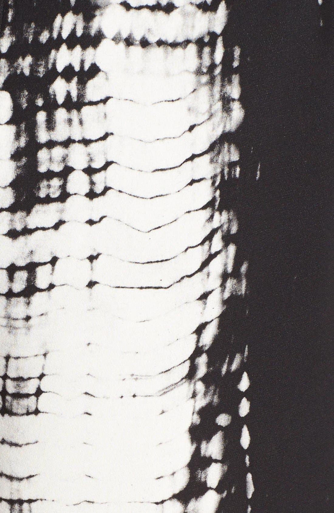 Alternate Image 3  - A.L.C. 'Mark' Print Silk Shorts