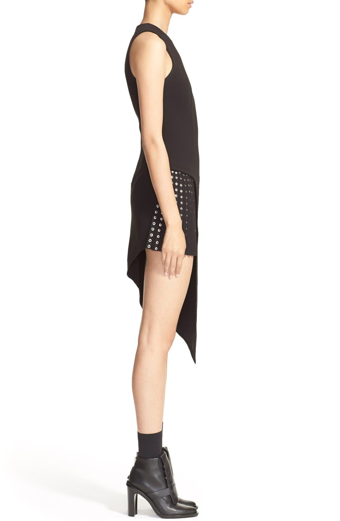 Alternate Image 4  - Anthony Vaccarello Sleeveless Side Cutout Sheath with Grommet Pleated Panel