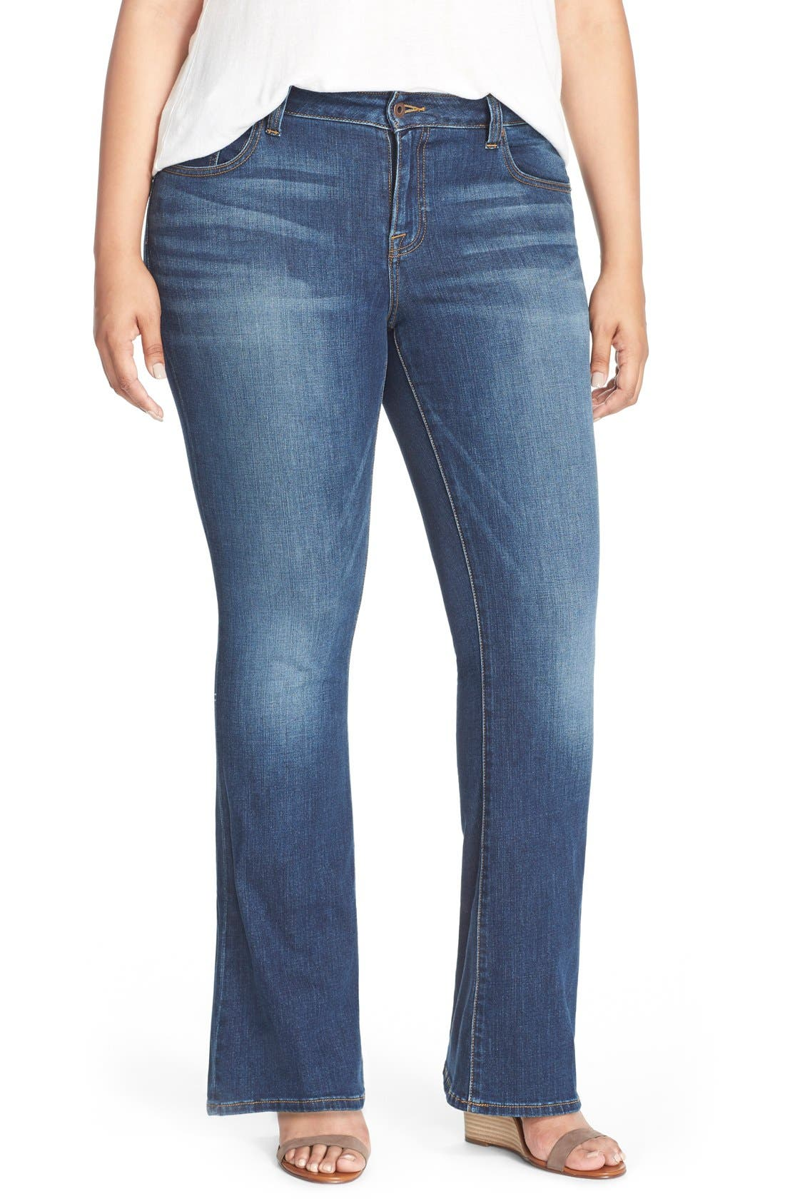 Alternate Image 1 Selected - Lucky Brand Ginger Bootcut Jeans (Amazonite) (Plus Size & Petite Plus)