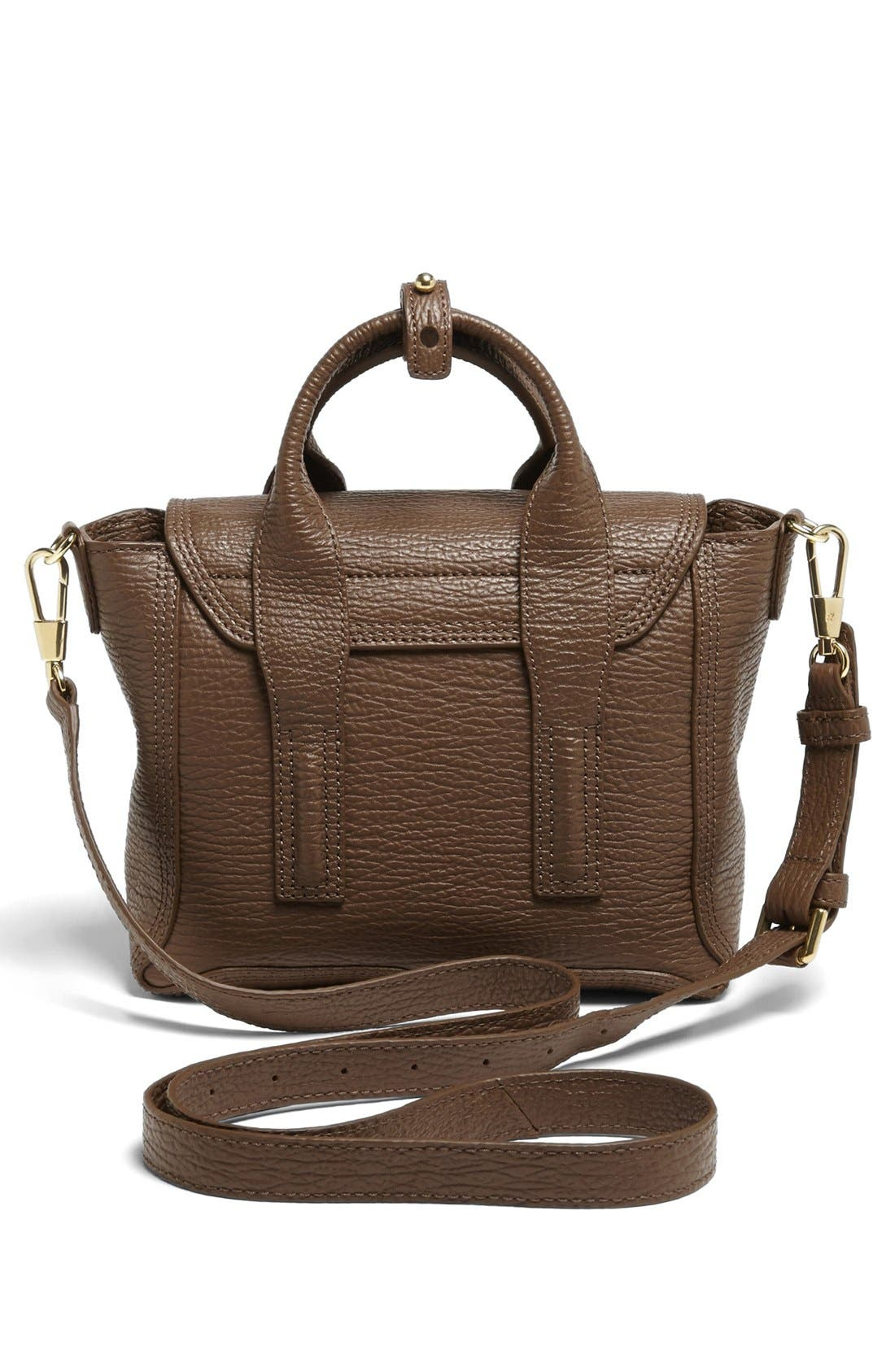 'Mini Pashli' Leather Satchel,                             Alternate thumbnail 3, color,                             Taupe