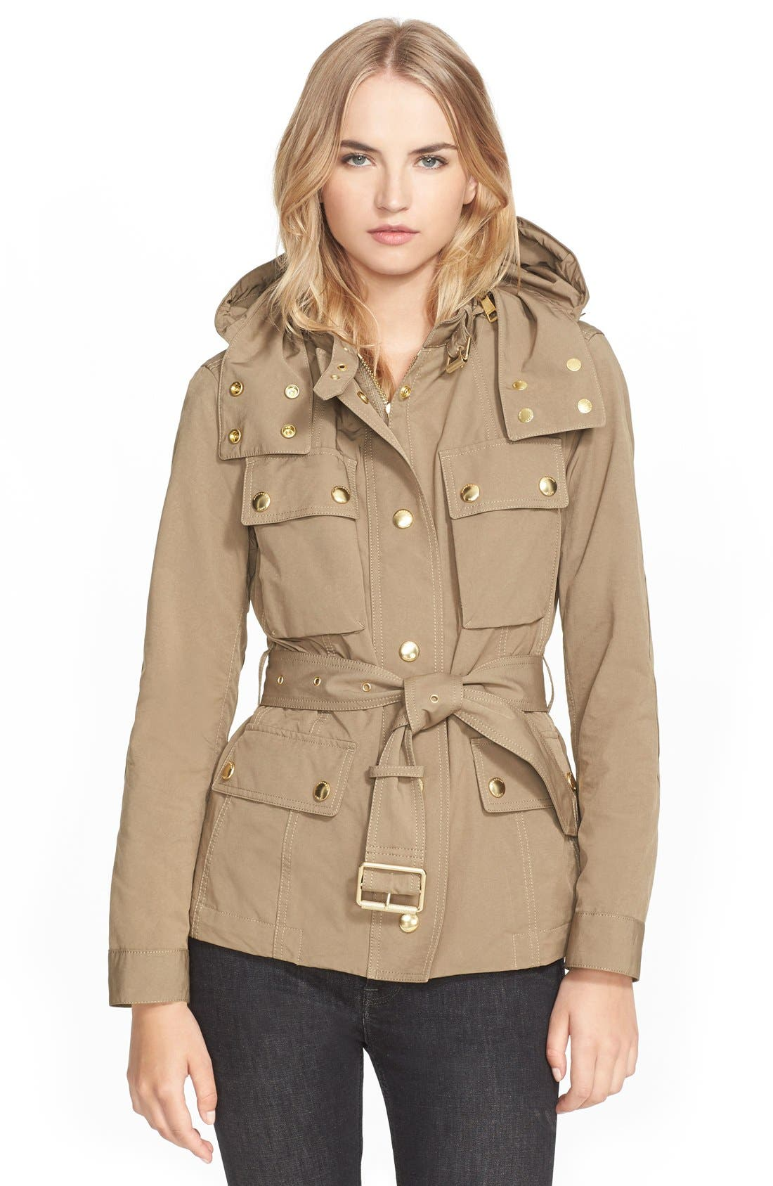 Main Image - Burberry Brit 'Fenbridge' Belted Jacket