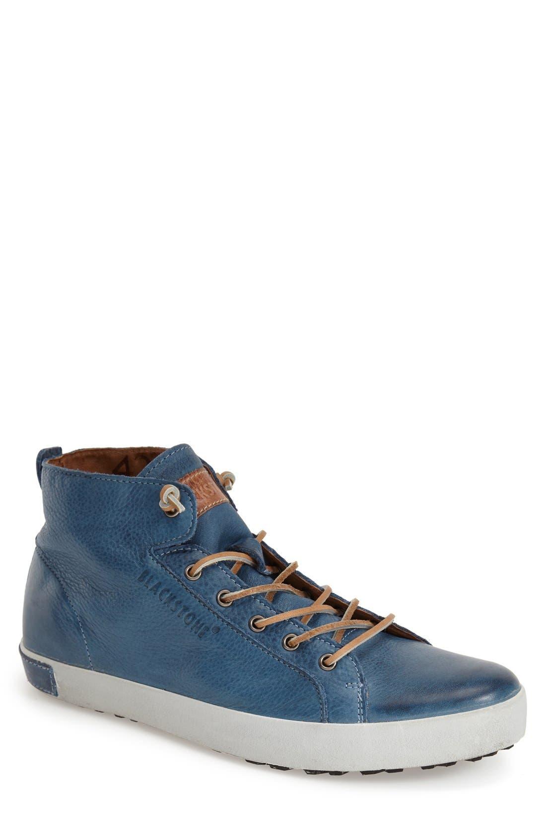 'JM03' Sneaker,                         Main,                         color, Light Indigo Leather