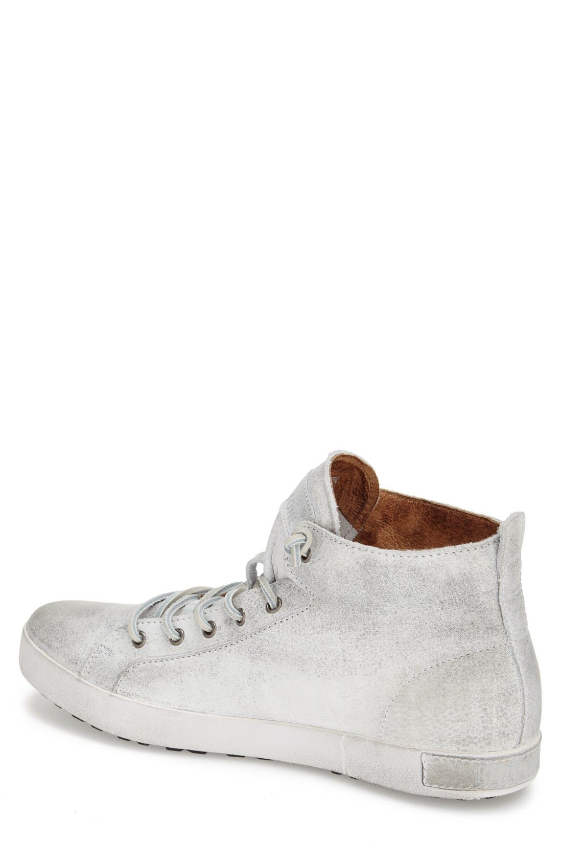 'JM 02' High Top Sneaker,                             Alternate thumbnail 2, color,                             White Leather