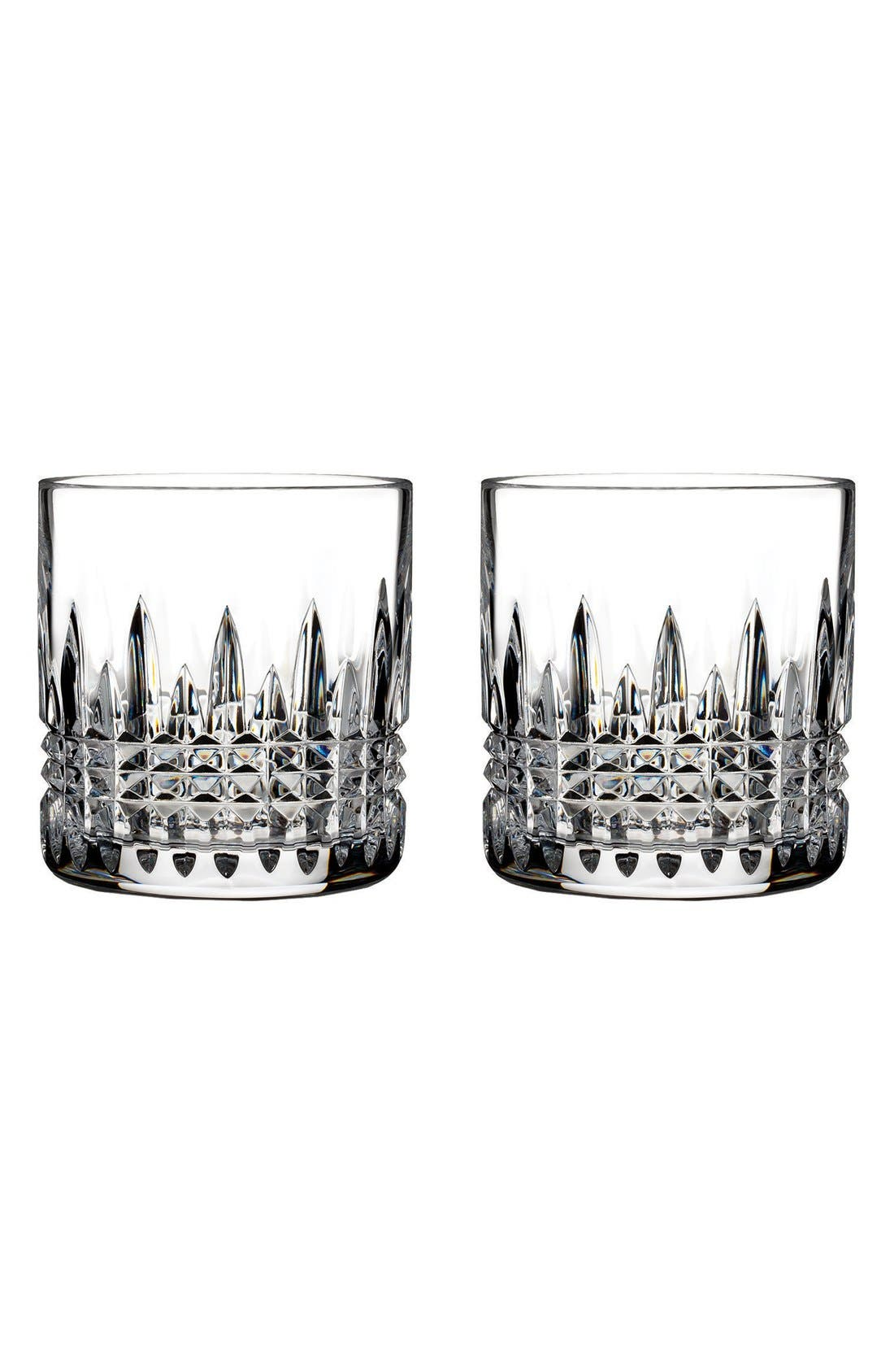 'Lismore Diamond' Lead Crystal Tumblers,                             Main thumbnail 1, color,                             Clear