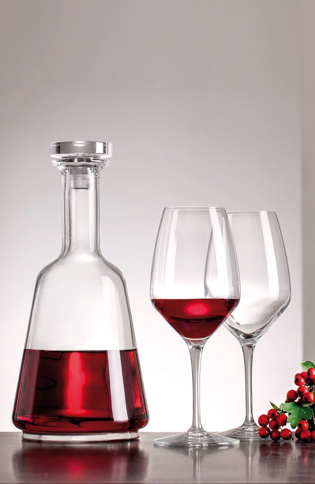 'Prestige' Wine Bottle & Stopper,                             Alternate thumbnail 2, color,                             White