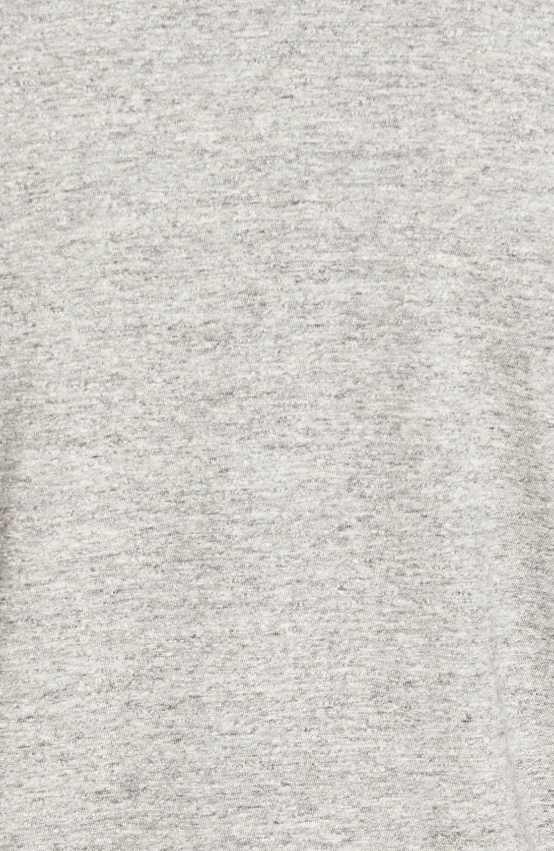 Double Face Jersey Pocket Crewneck T-Shirt,                             Alternate thumbnail 3, color,                             Anti-Grey Heather