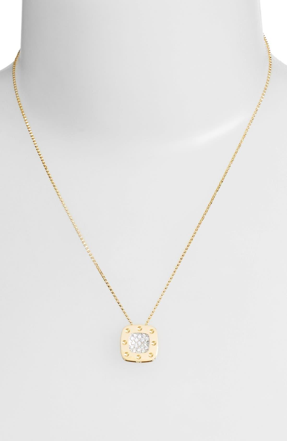 Alternate Image 2  - Roberto Coin 'PoisMoi' Diamond Pendant