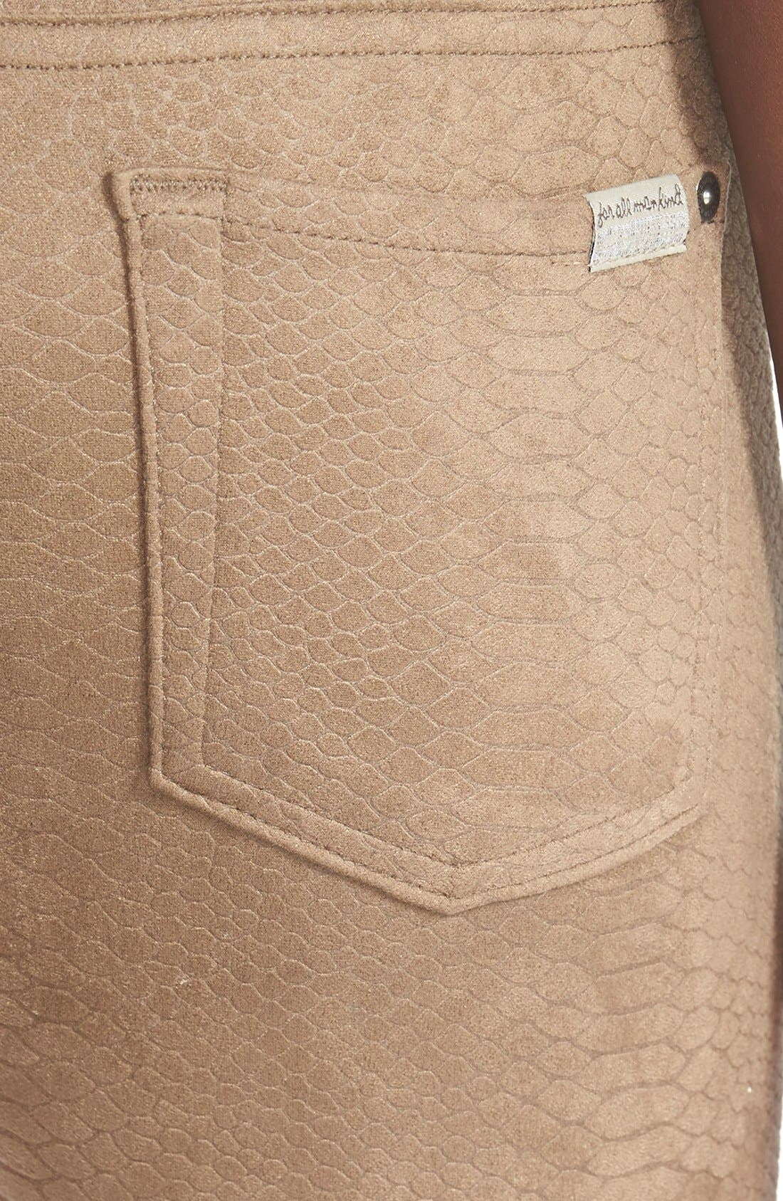Alternate Image 3  - 7 For All Mankind® Snakeskin Embossed Faux Leather Pants