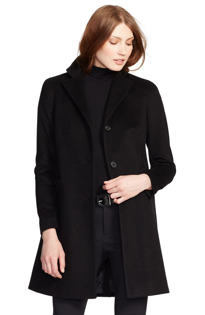 Lauren Ralph Lauren Wool Blend Reefer Coat Regular