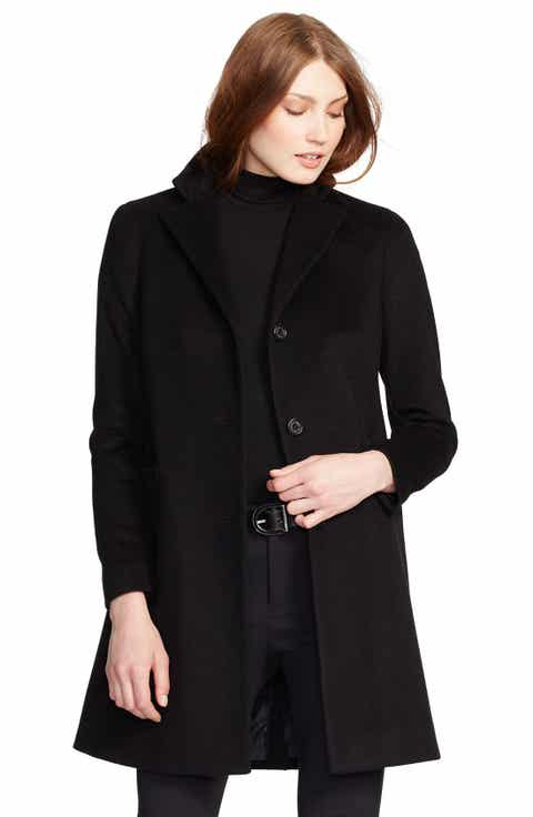 Women's Black Wool & Wool-Blend Coats | Nordstrom